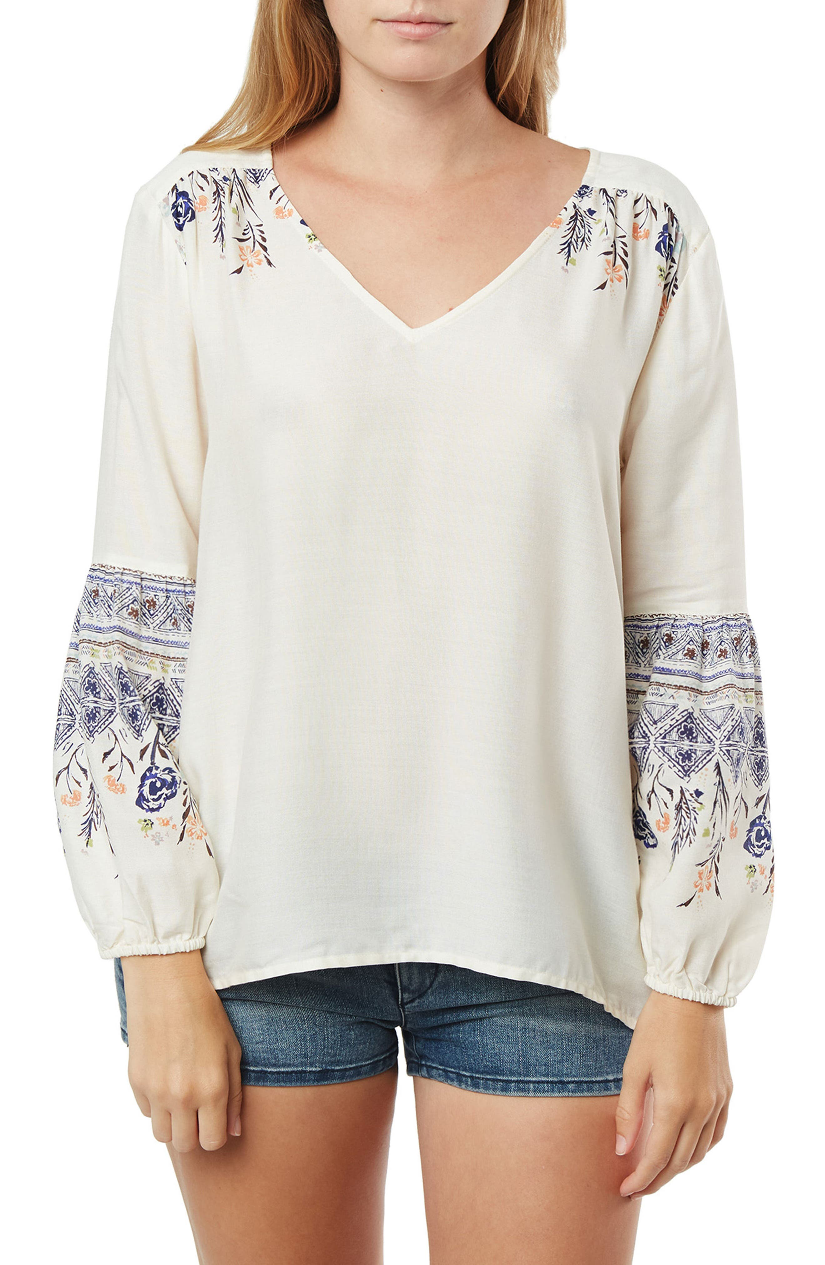 Julie Woven Top,                         Main,                         color, Naked