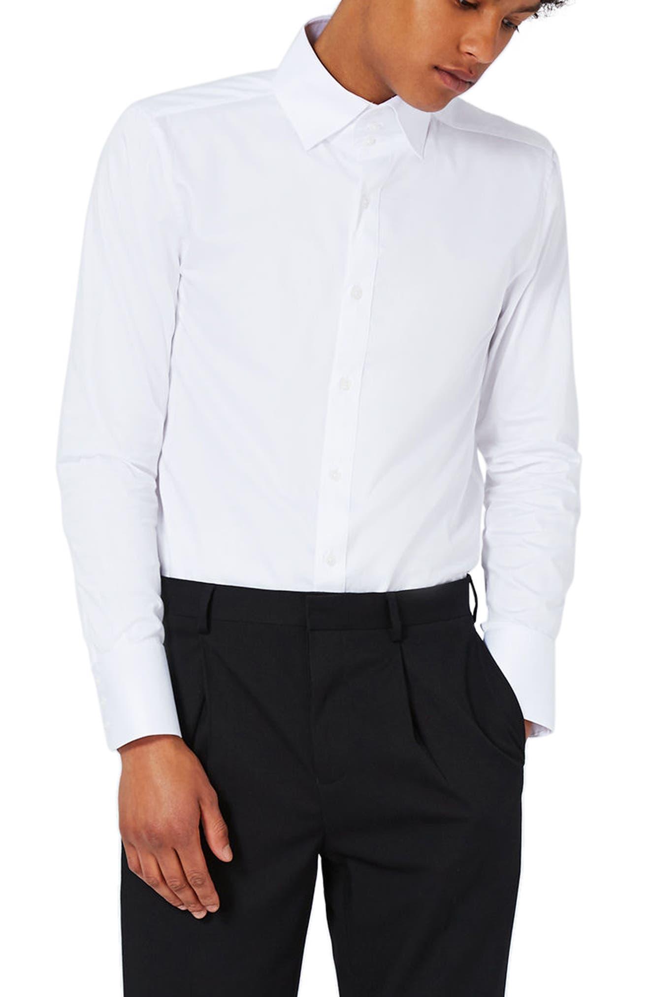 Topman Triple Button Collar Dress Shirt