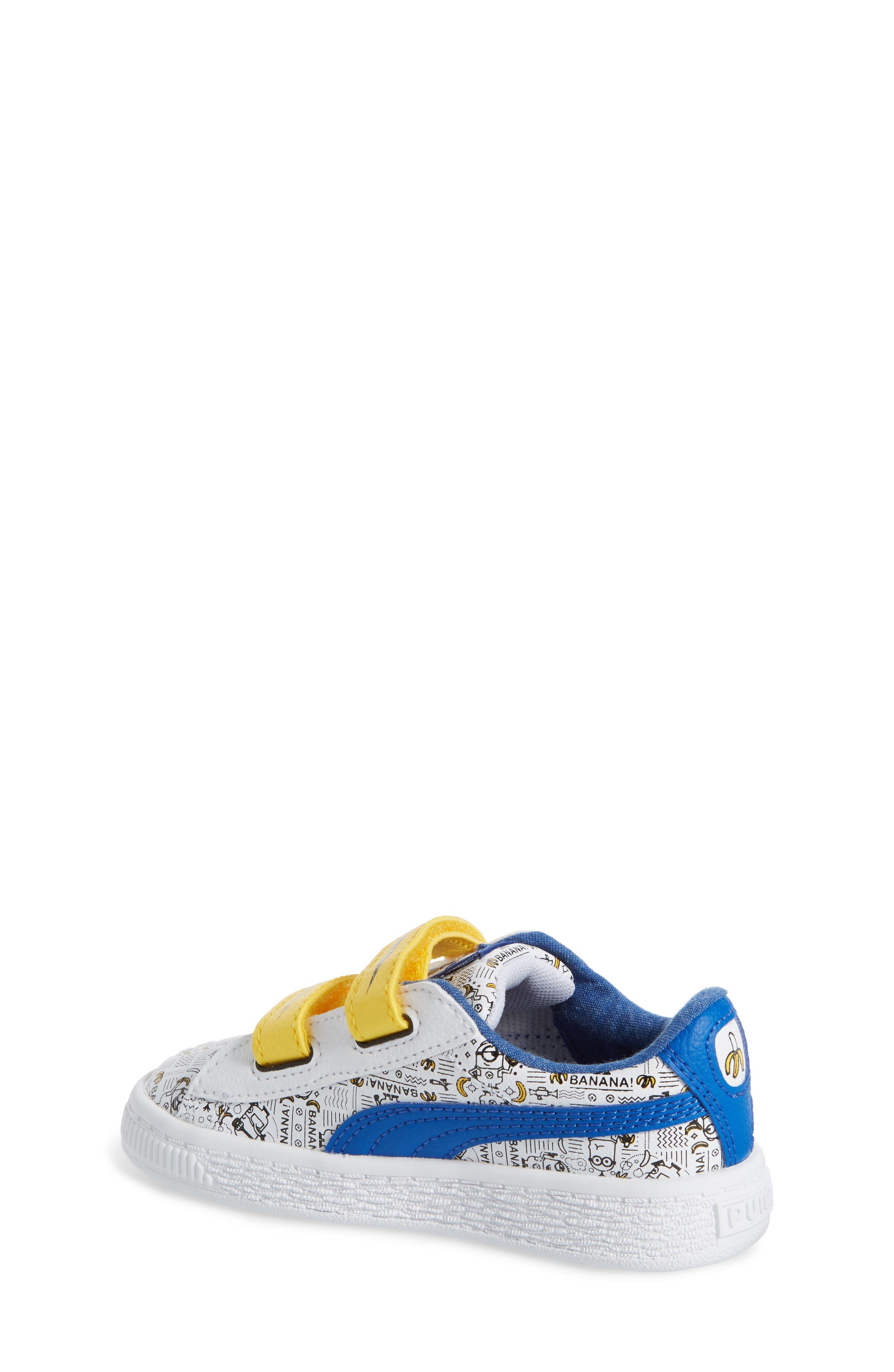 Alternate Image 2  - PUMA Minions® Basket V Sneaker (Baby, Walker & Toddler)