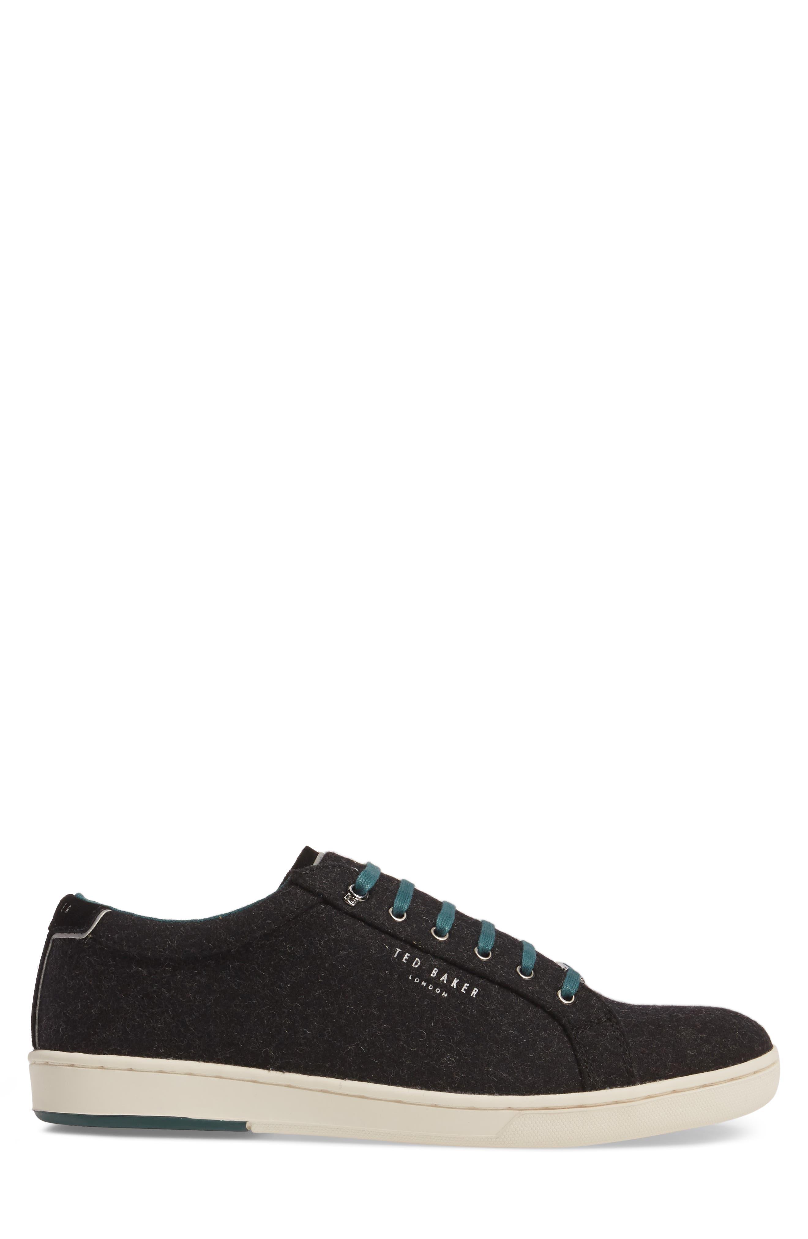 Minem 3 Sneaker,                             Alternate thumbnail 3, color,                             Black Wool