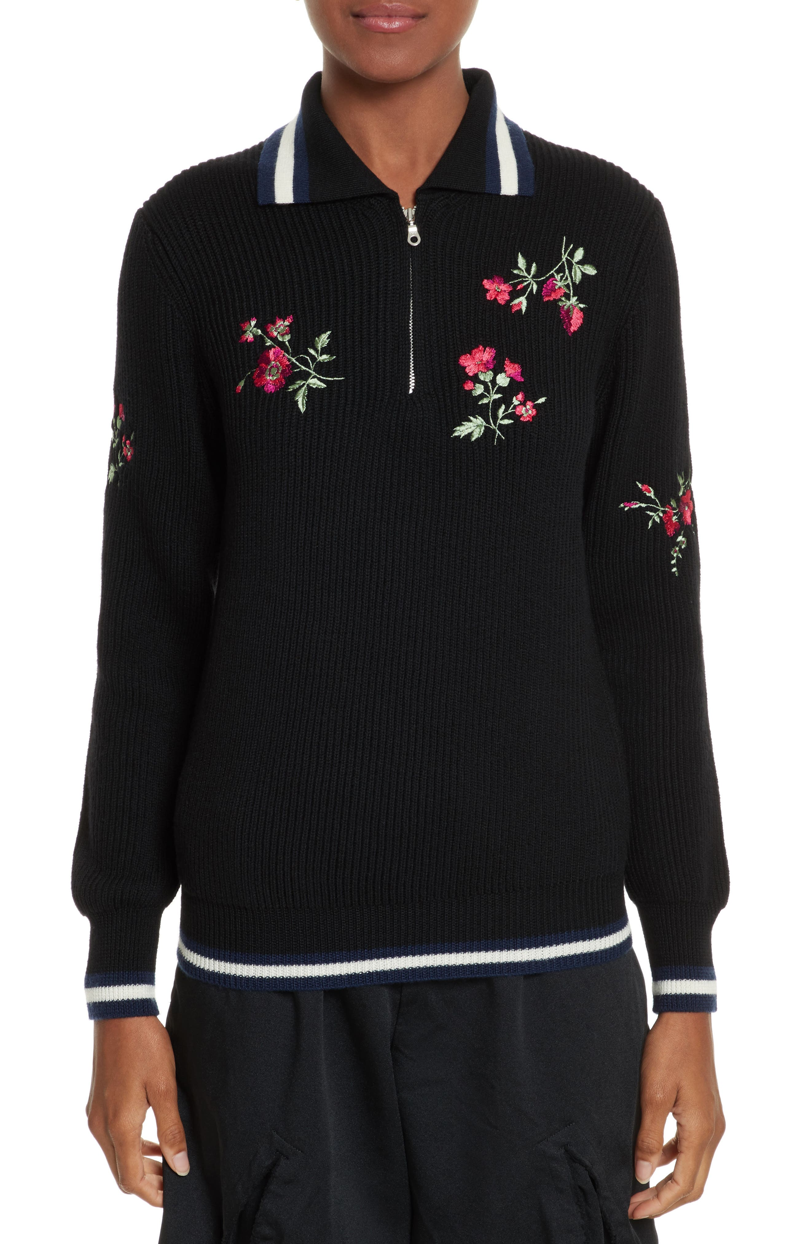 Main Image - Tricot Comme des Garçons Half Zip Rugby Pullover