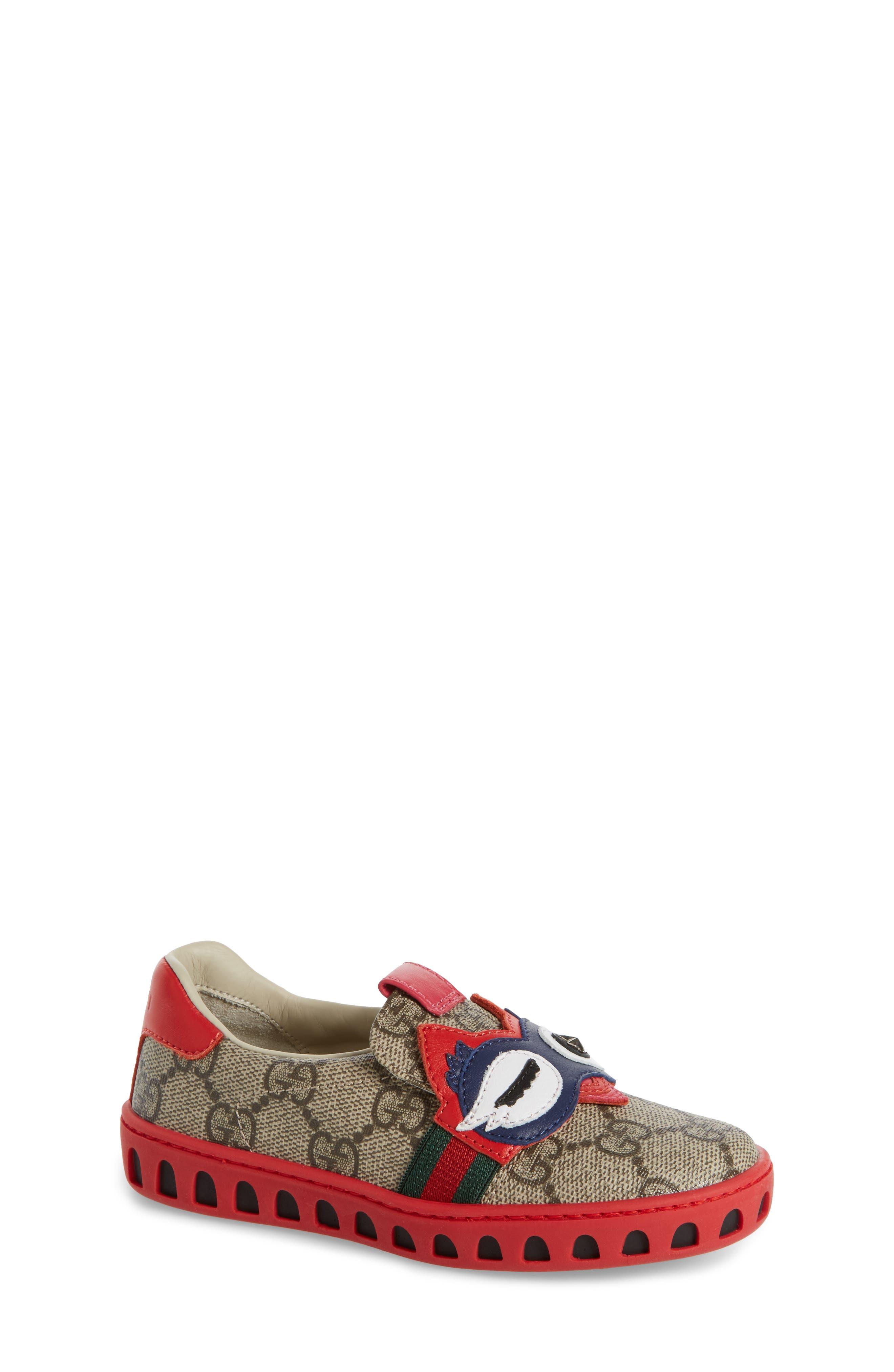 Gucci GG Supreme Slip-On Owl Sneaker (Toddler)