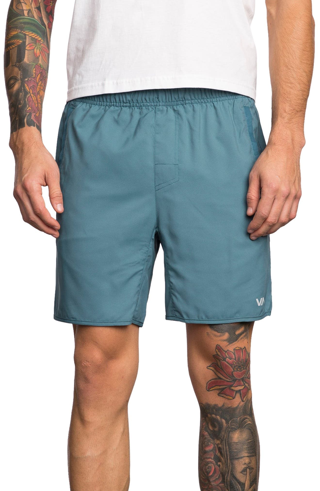 Yogger III Athletic Shorts,                         Main,                         color, Desert Blue