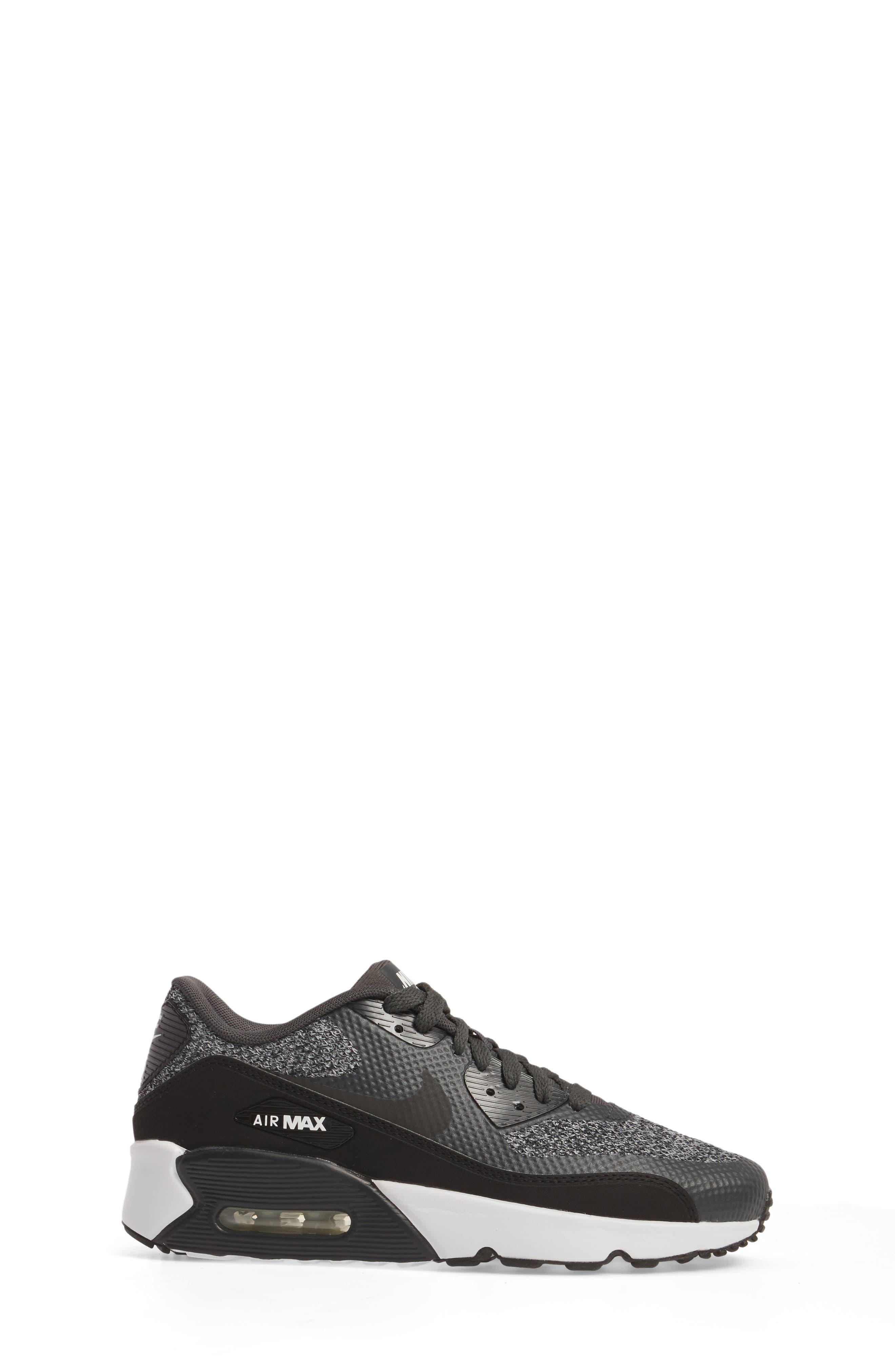 Air Max 90 Ultra 2.0 SE Sneaker,                             Alternate thumbnail 3, color,                             Anthracite/ Black