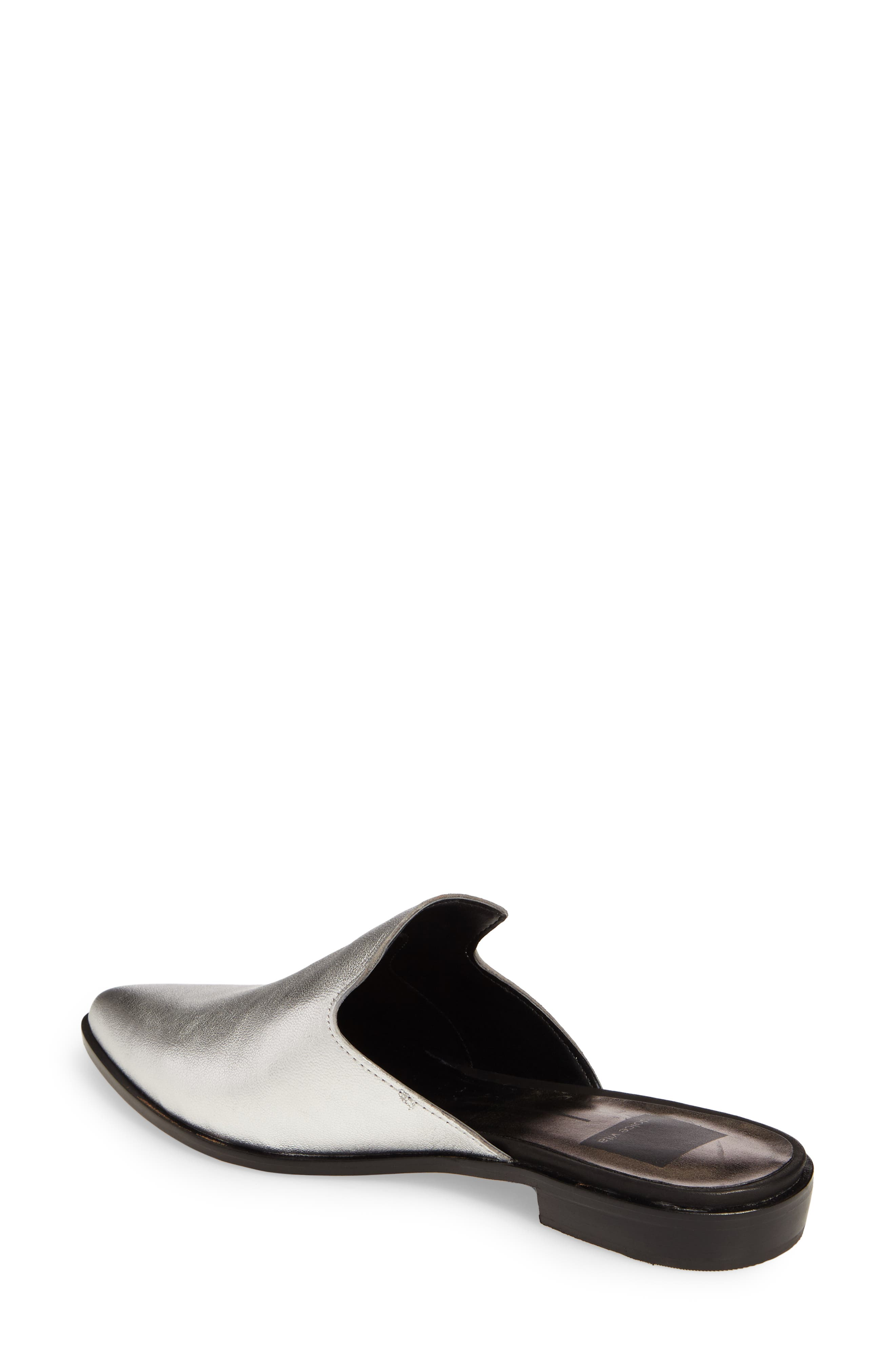 Holli Loafer Mule,                             Alternate thumbnail 2, color,                             Silver Leather