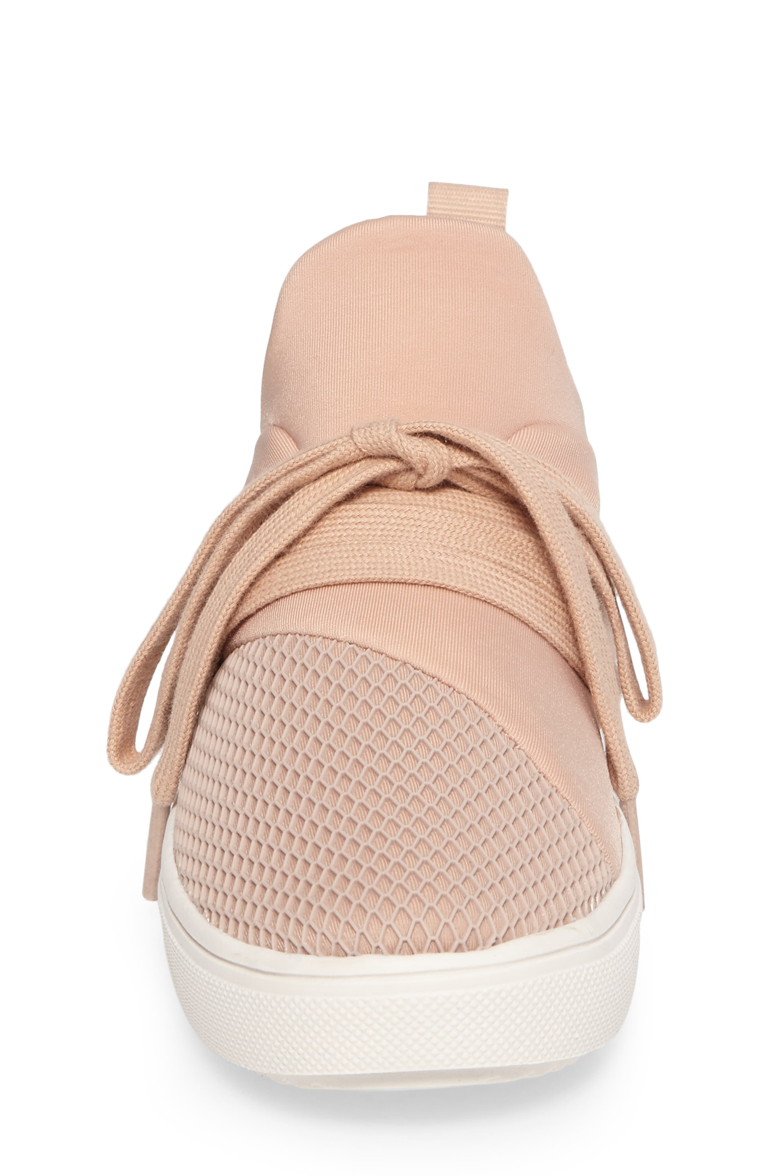 Lancer Mesh Sock-Fit Sneaker,                             Alternate thumbnail 5, color,                             Blush