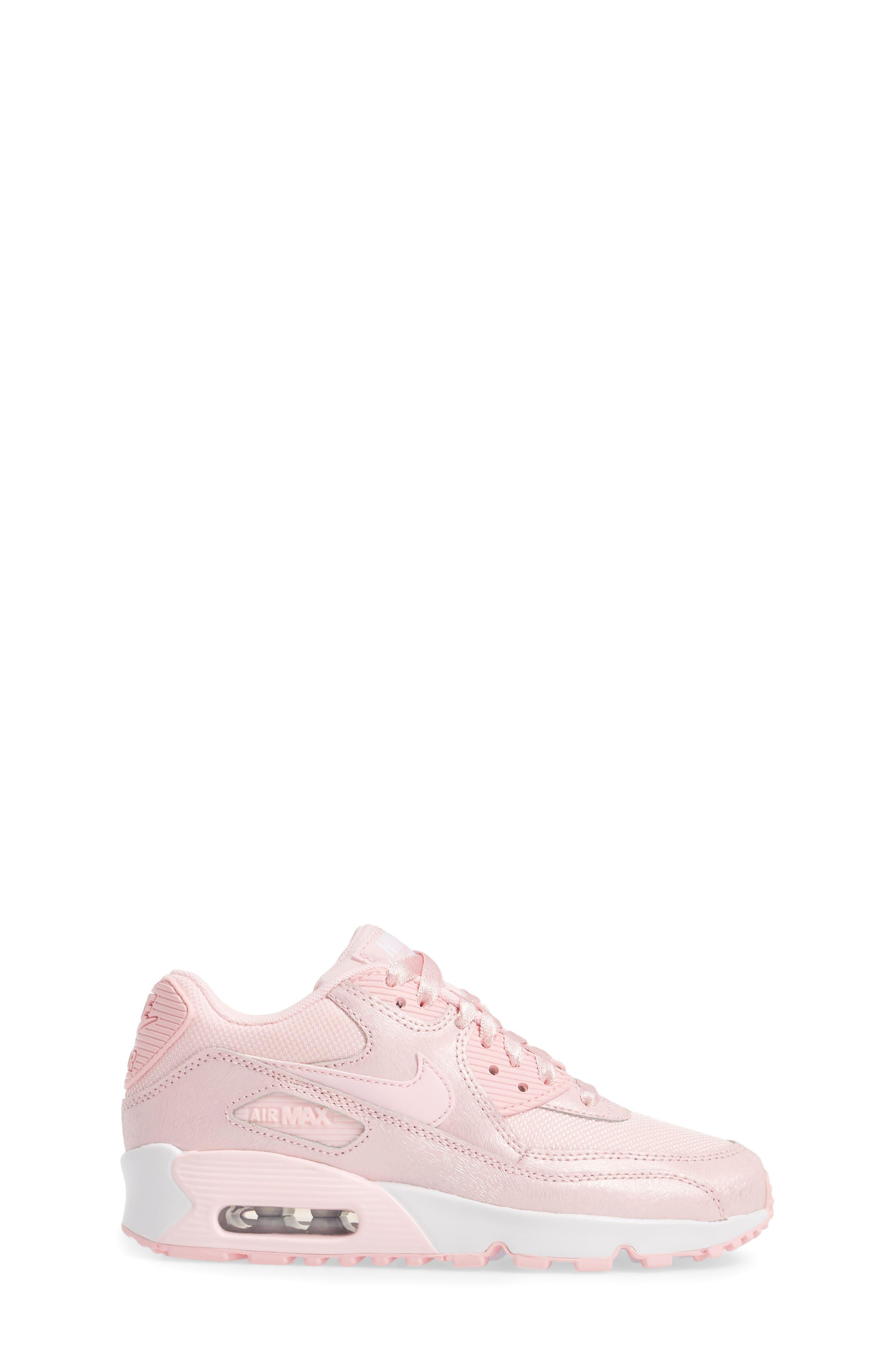 Air Max 90 Mesh Sneaker,                             Alternate thumbnail 2, color,                             Prism Pink/ White