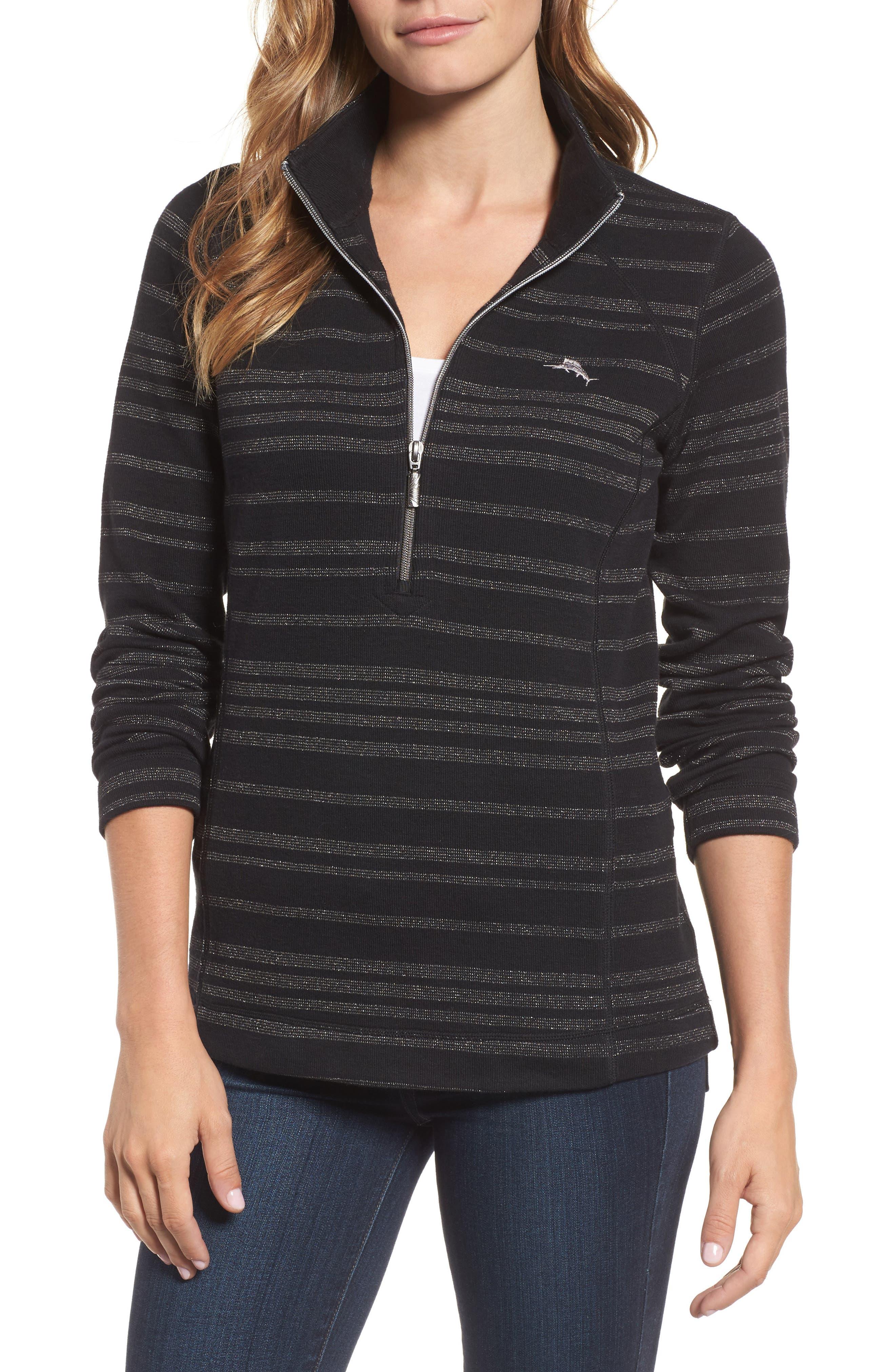 Main Image - Tommy Bahama Aruba Shazam Stripe Half-Zip Pullover