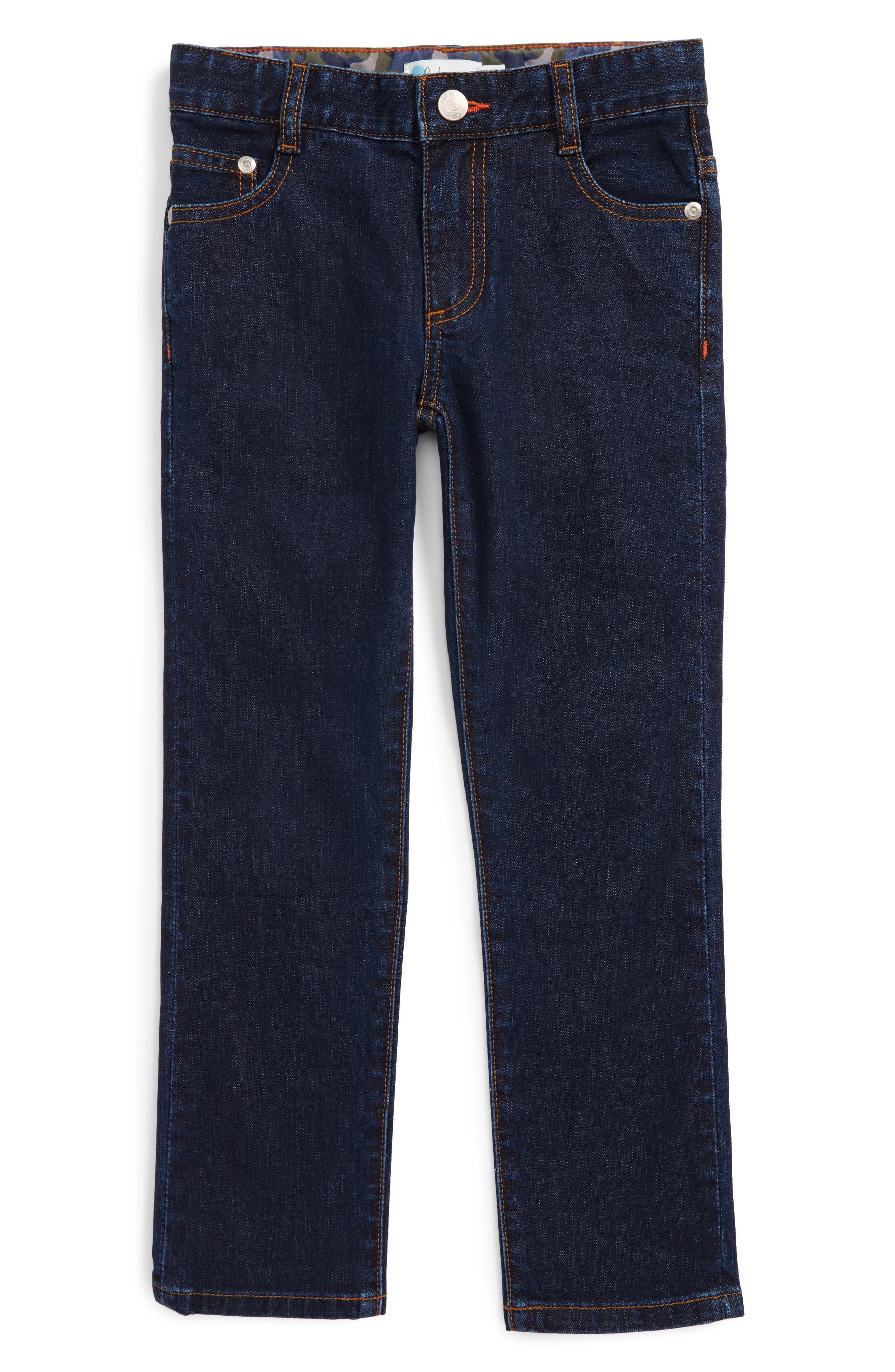 Mini Boden Slim Straight Leg Jeans (Toddler Boys, Little Boys & Big Boys)