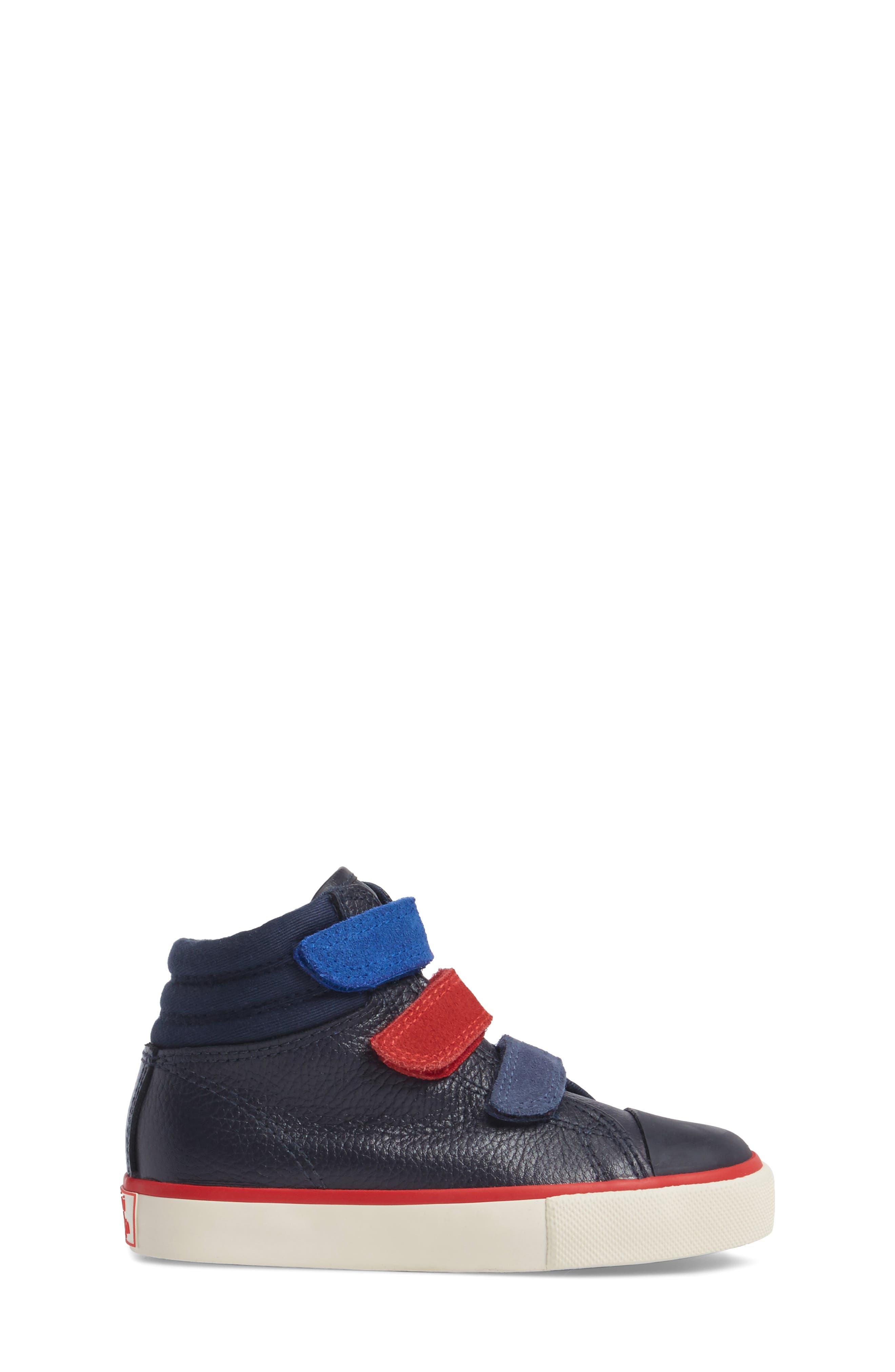 High Top Sneaker,                             Alternate thumbnail 3, color,                             Navy