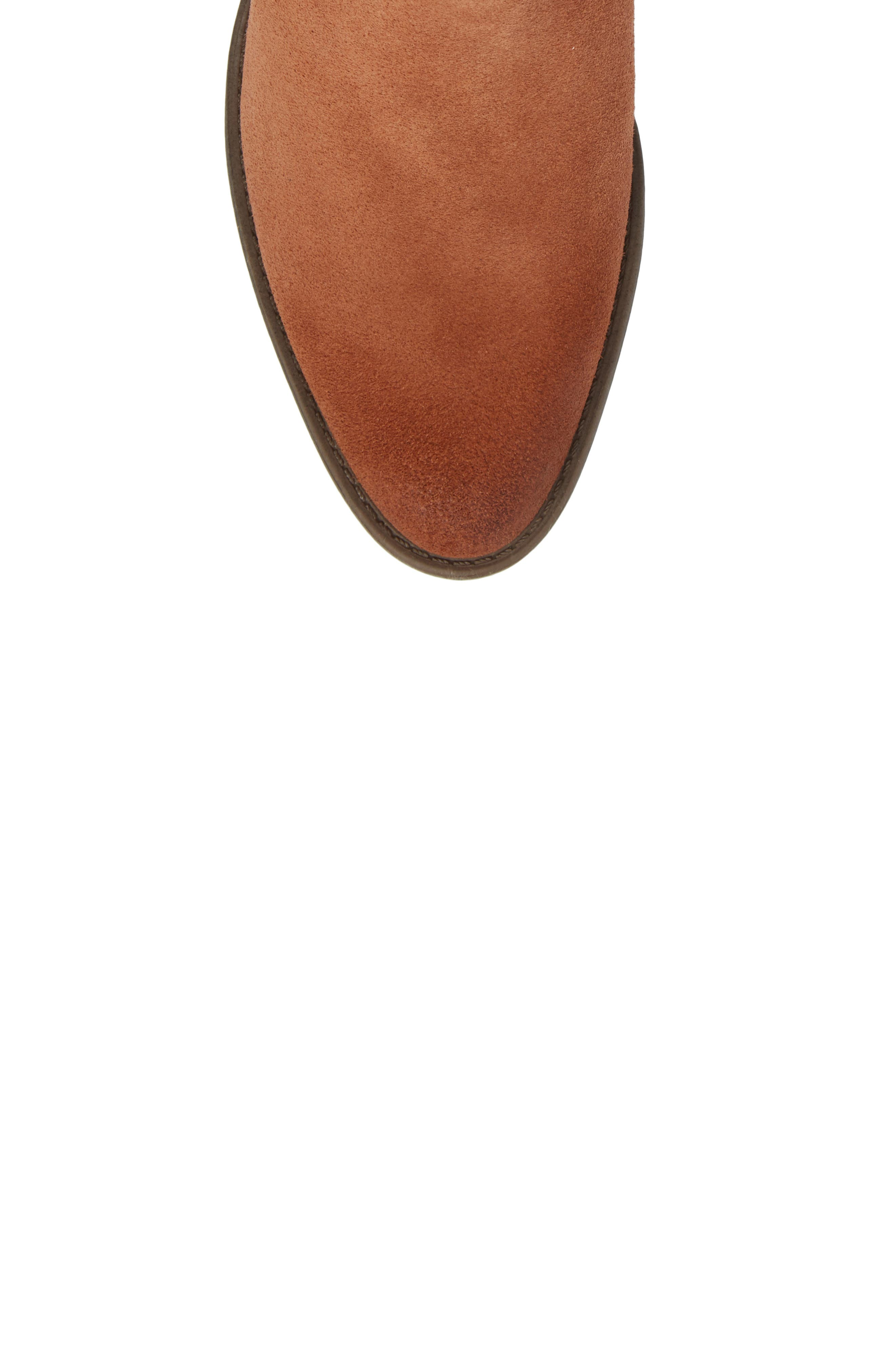 Natania Bootie,                             Alternate thumbnail 5, color,                             Toffee Suede