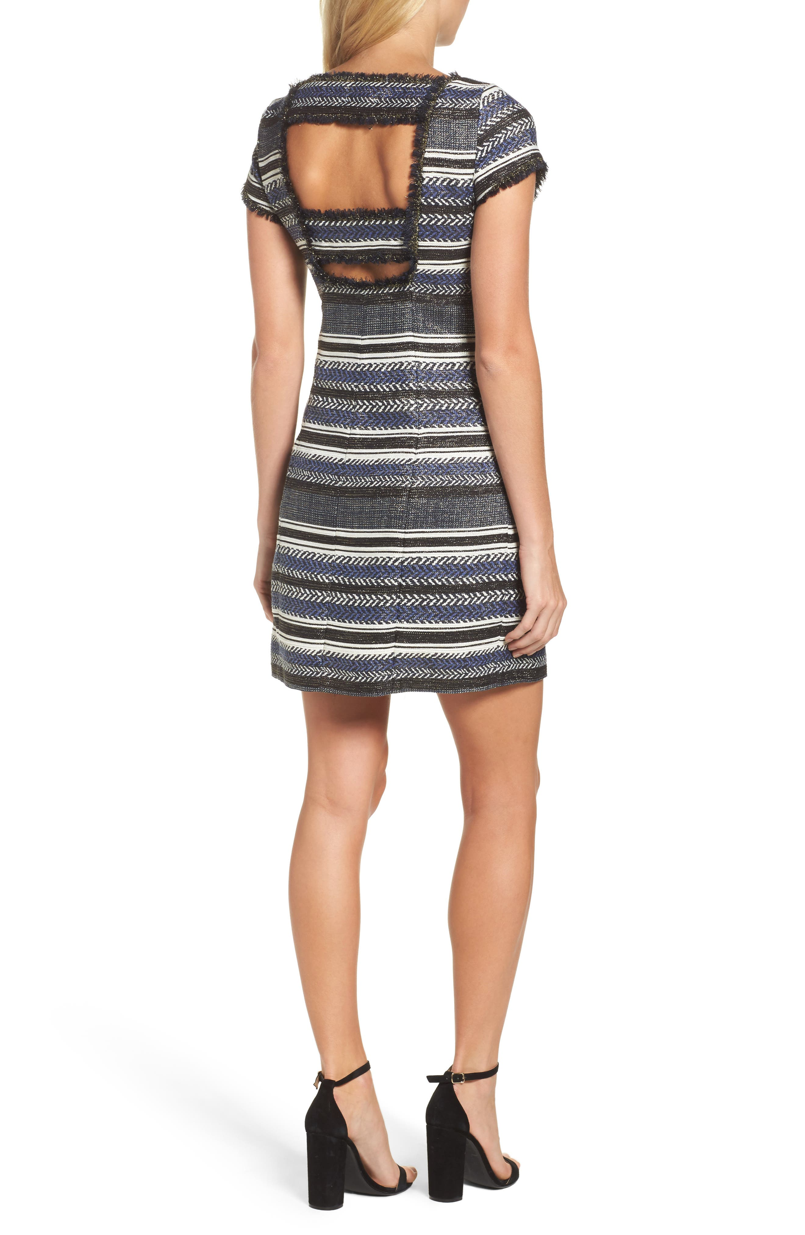 Alternate Image 2  - Adrianna Papell Stripe Sheath Dress