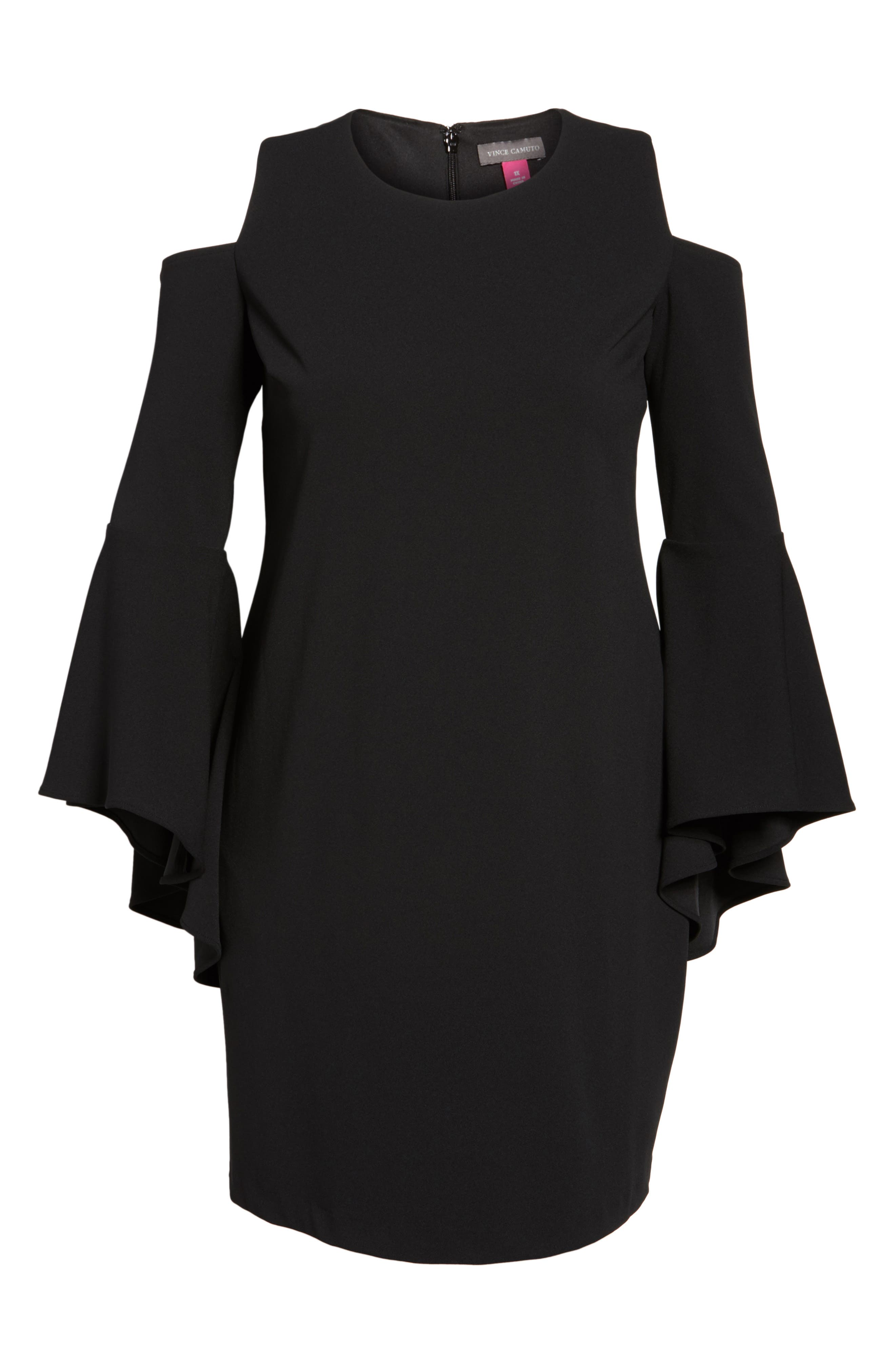 Alternate Image 6  - Vince Camuto Flounce Cuff Cold Shoulder Dress (Plus Size)