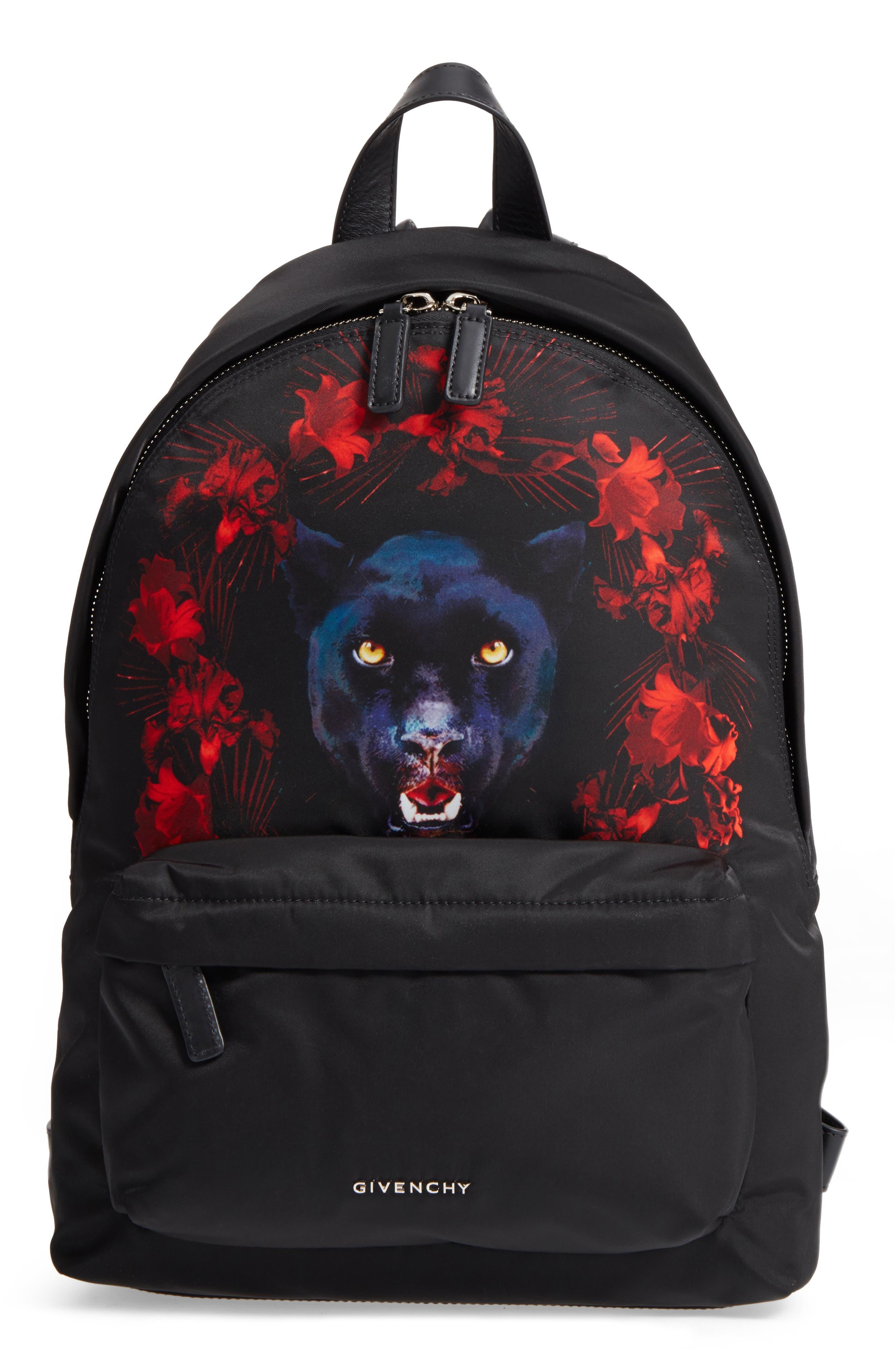 GIVENCHY Jaguar Satin Backpack