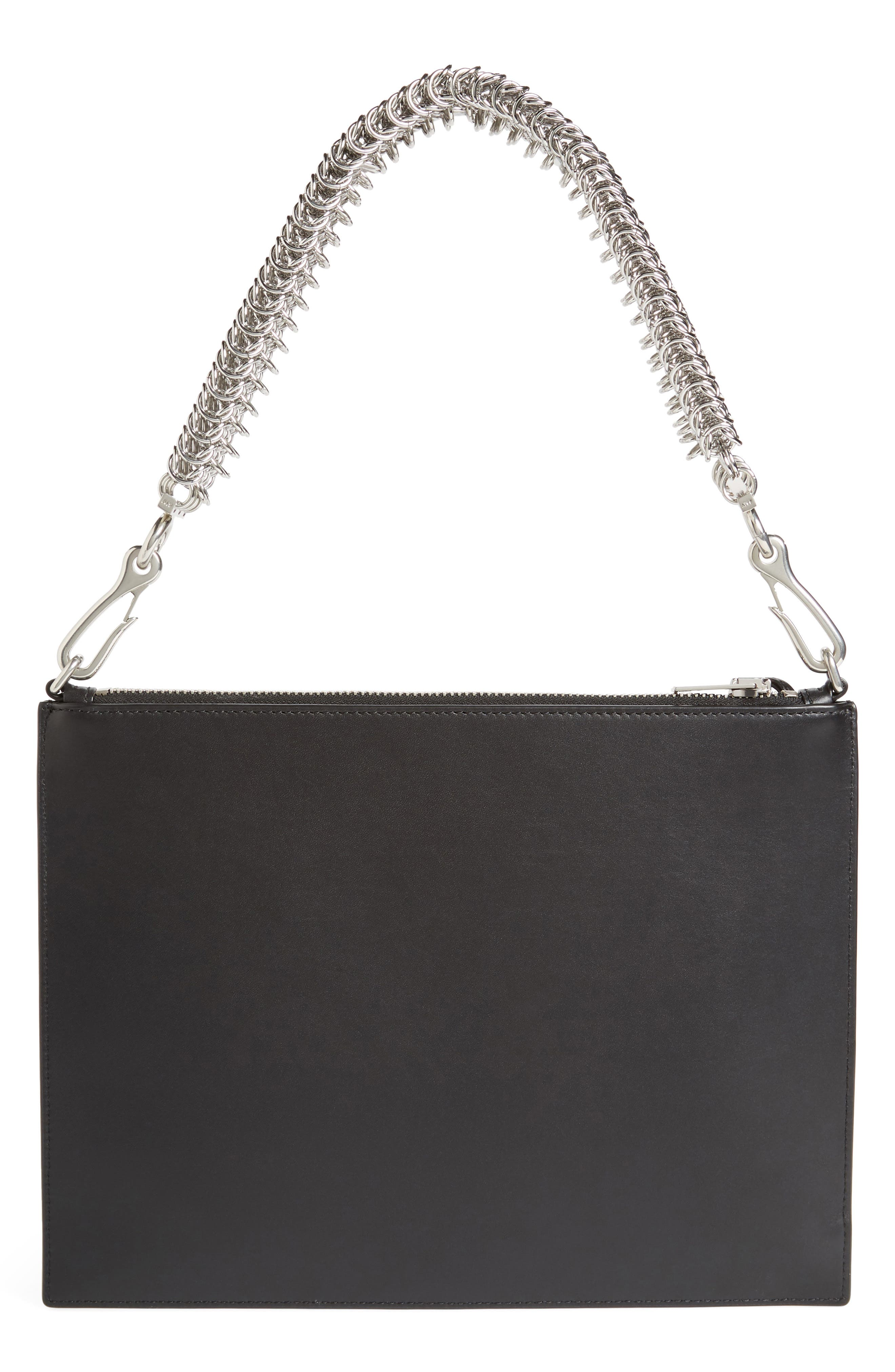 Genesis Box Chain Leather Pouch,                             Alternate thumbnail 2, color,                             Black