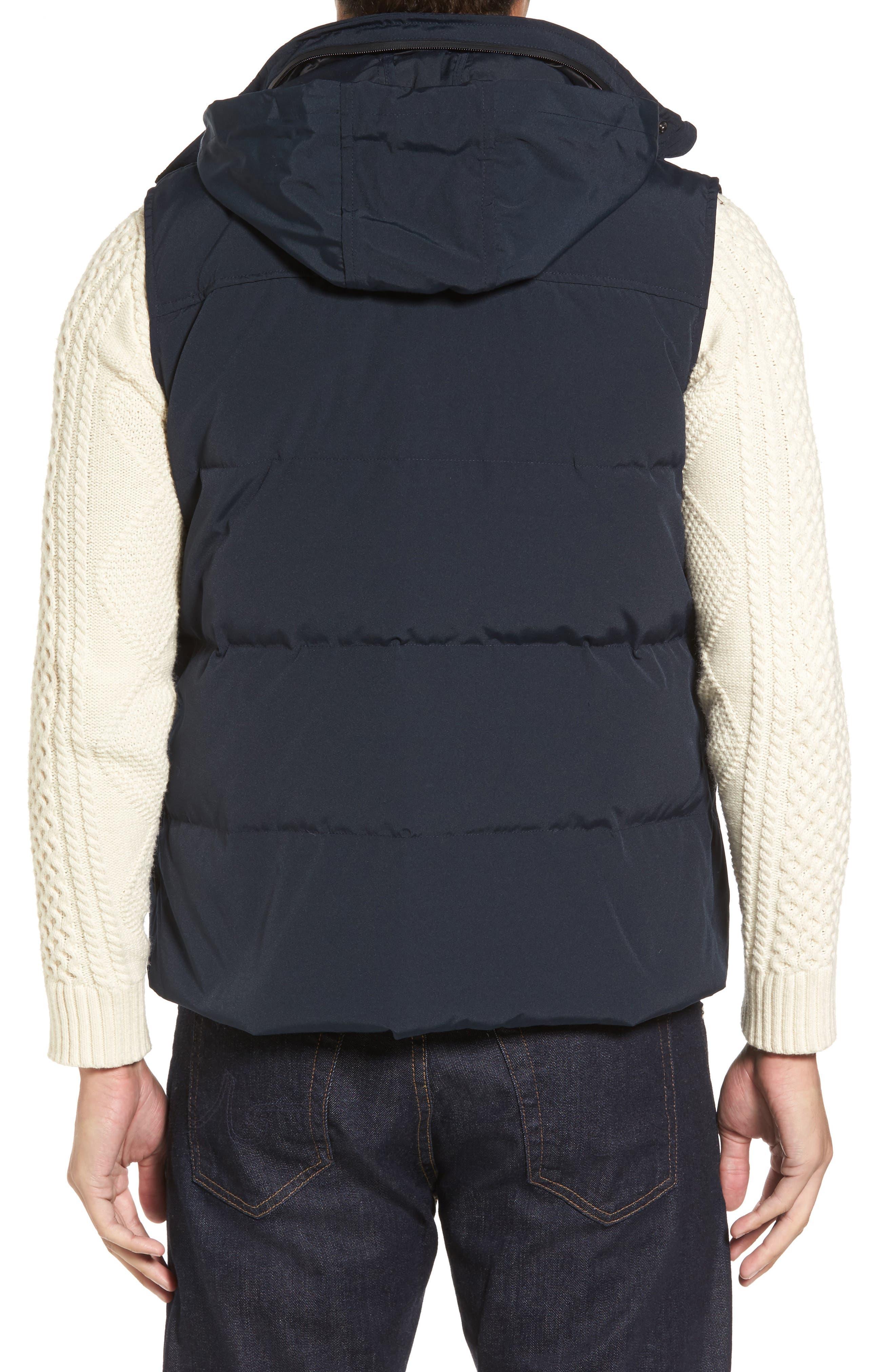 Water-Resistant Down Vest,                             Alternate thumbnail 2, color,                             Navy