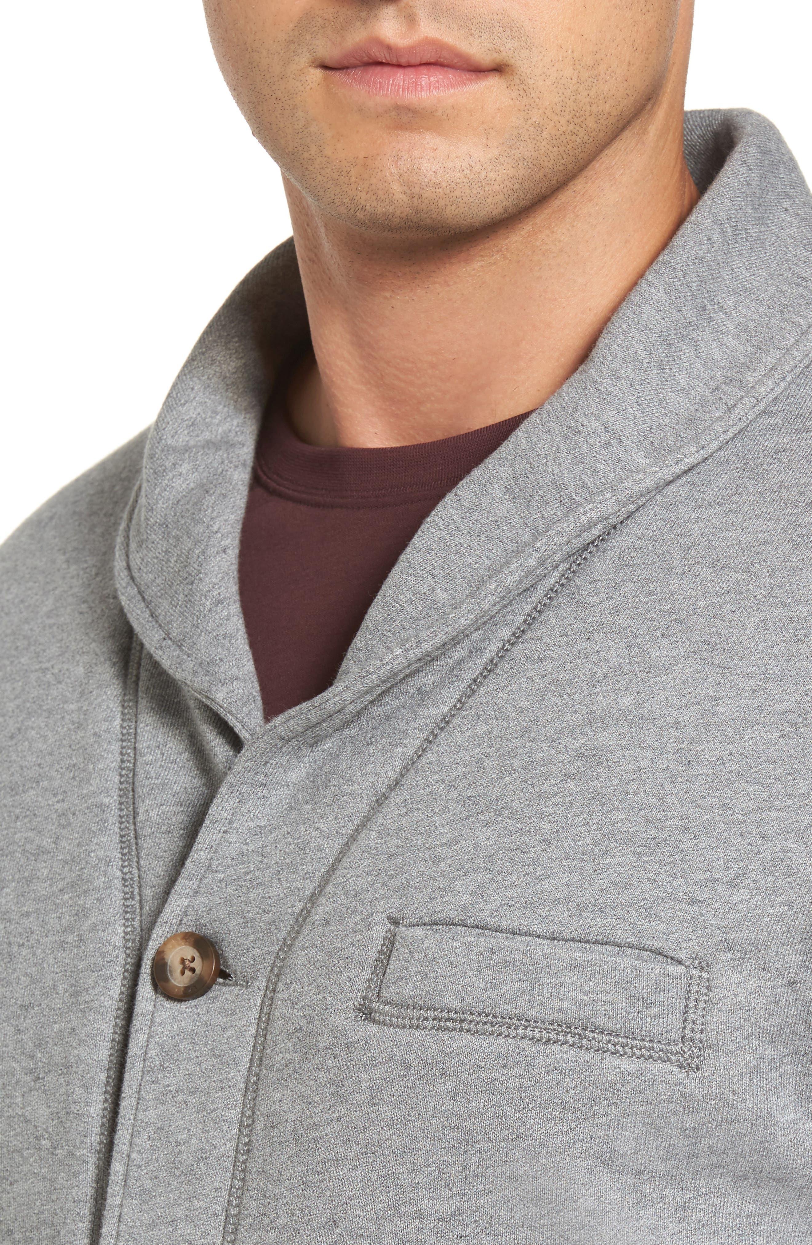 Alternate Image 4  - UGG® Faux Shearling Lined Shawl Collar Cardigan