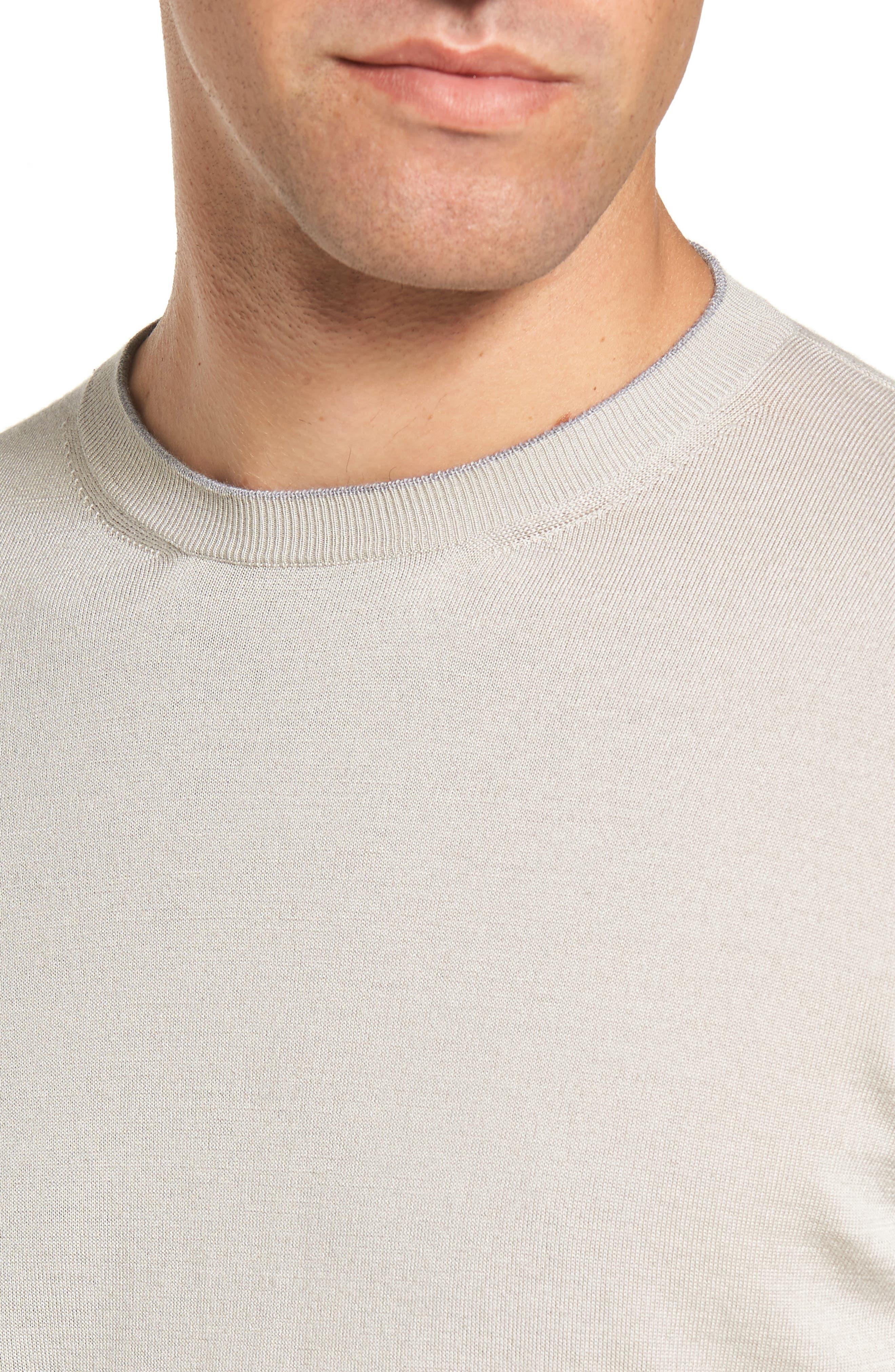 Alternate Image 4  - Eleventy Merino Wool & Silk Tipped Sweater
