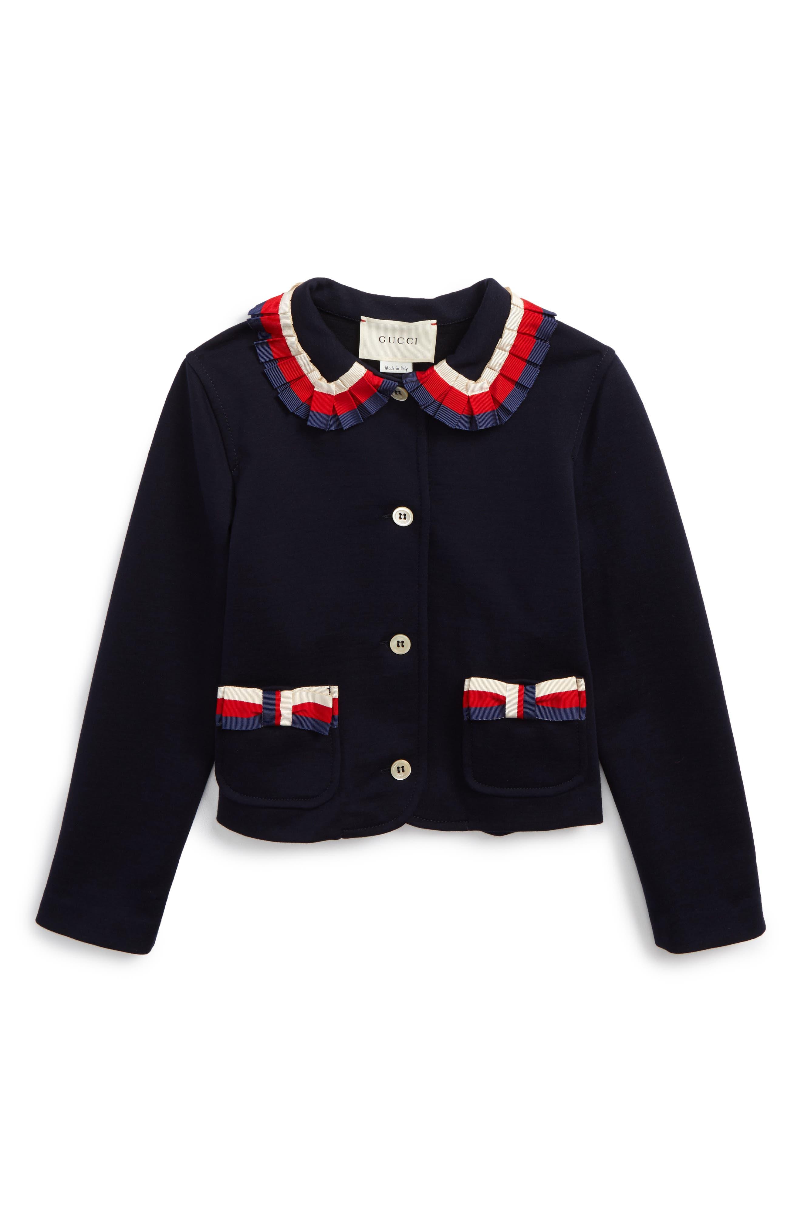 Gucci Stripe Trim Jacket (Little Girls & Big Girls)
