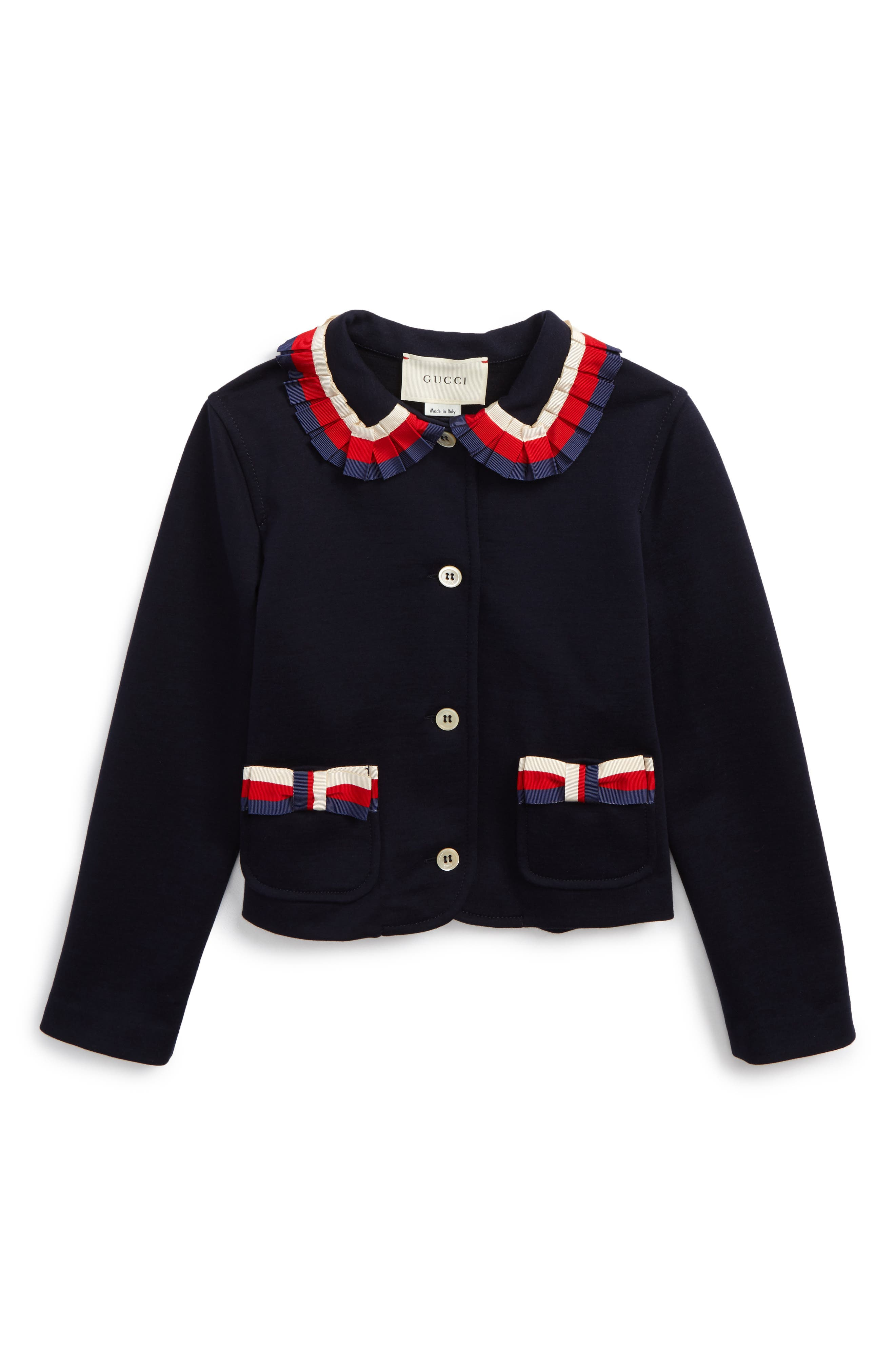 Gucci Stripe Trim Jacket (Little Girls & Big Girls)