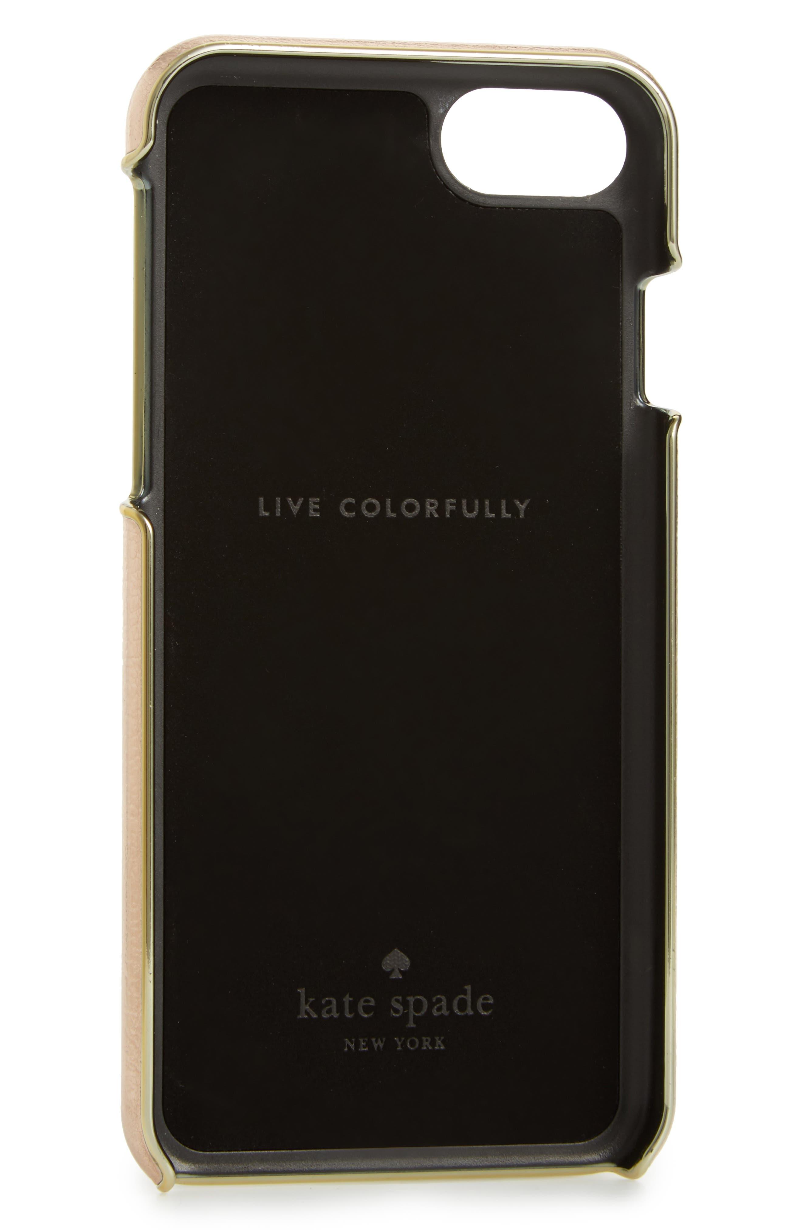 Alternate Image 2  - kate spade new york metallic iPhone 7/8 case