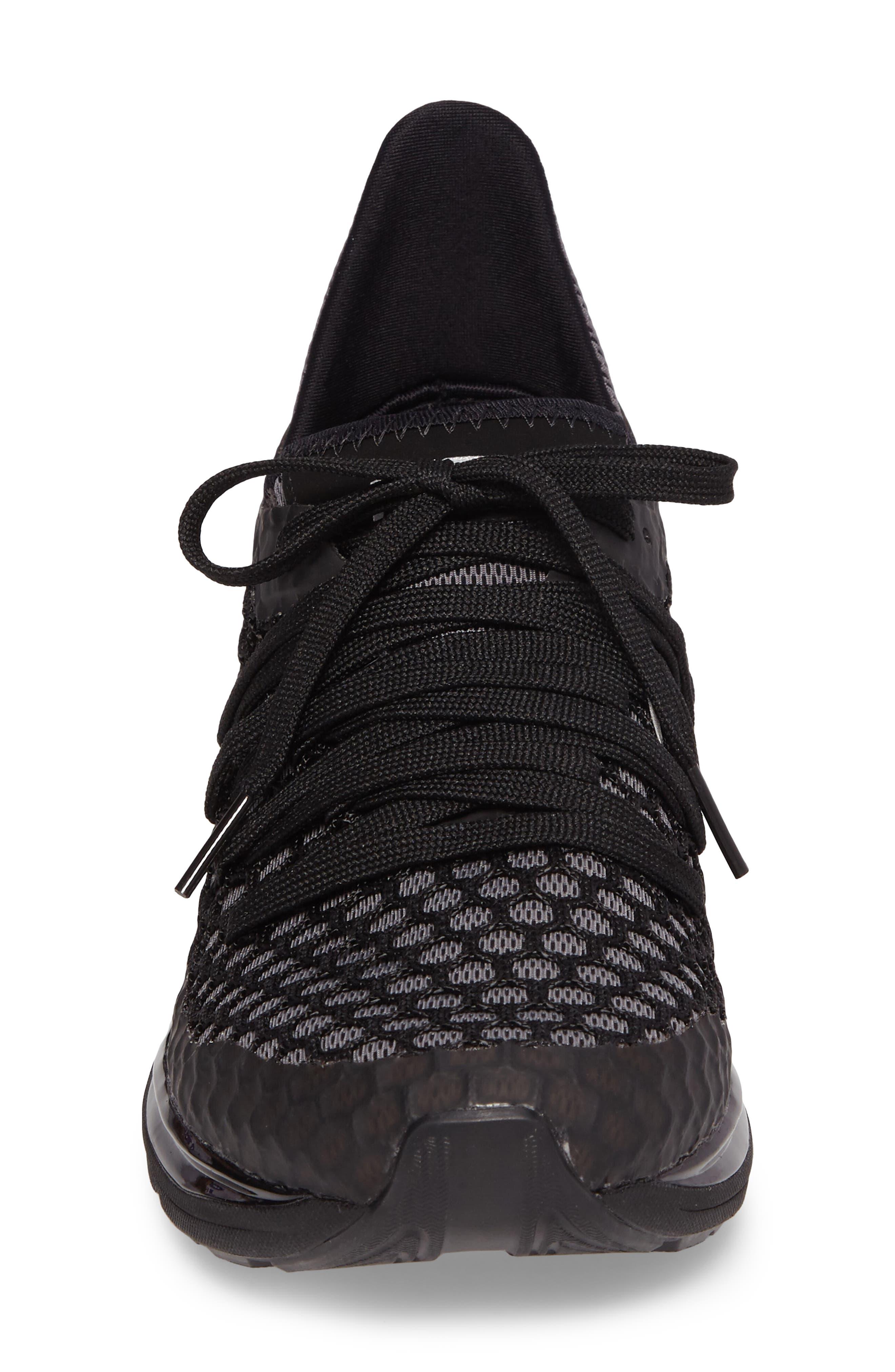 Ignite Limitless Netfit Running Shoe,                             Alternate thumbnail 5, color,                             Black/ Silver