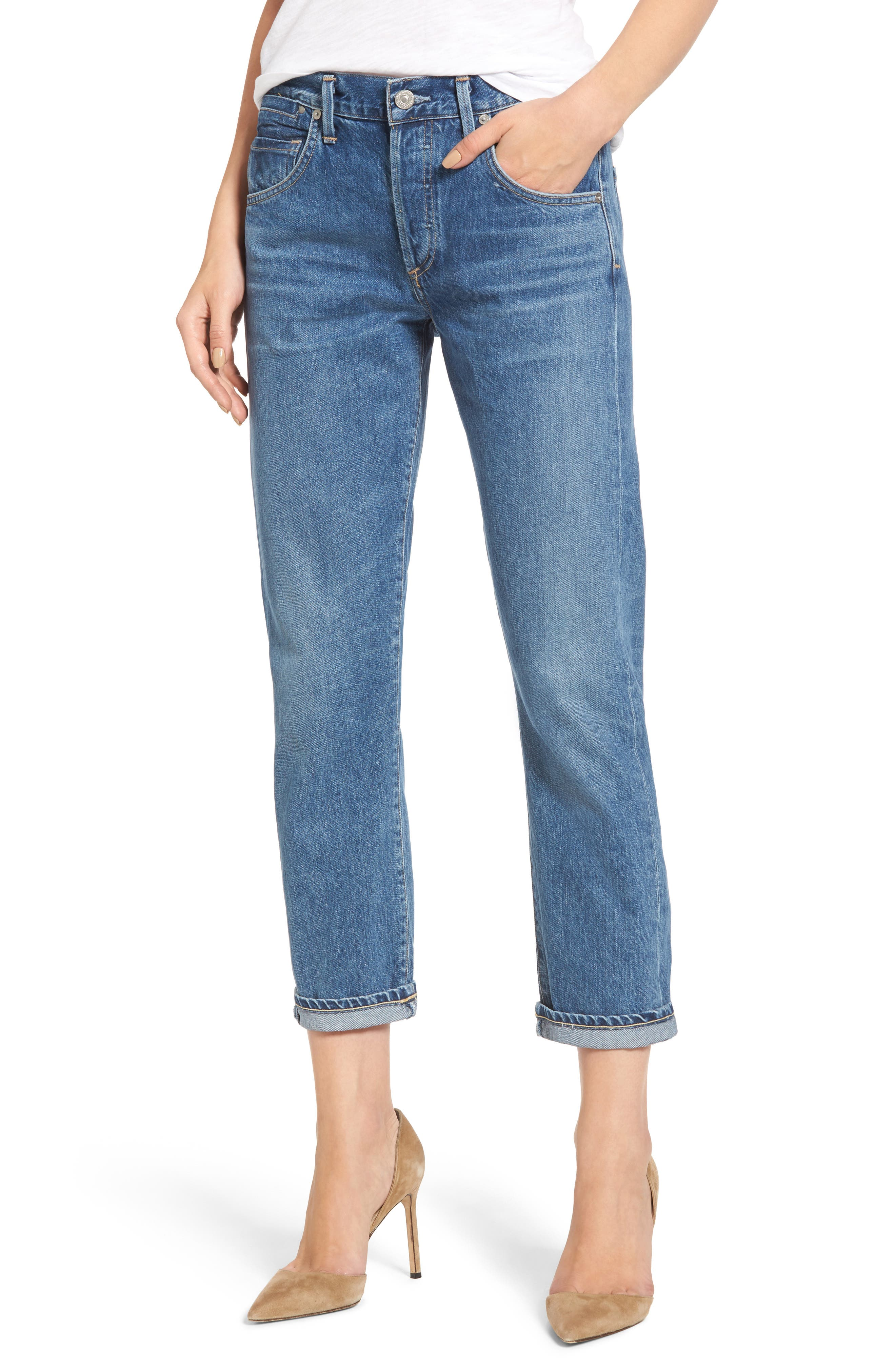 Emerson Slim Boyfriend Jeans,                             Main thumbnail 1, color,                             Admire