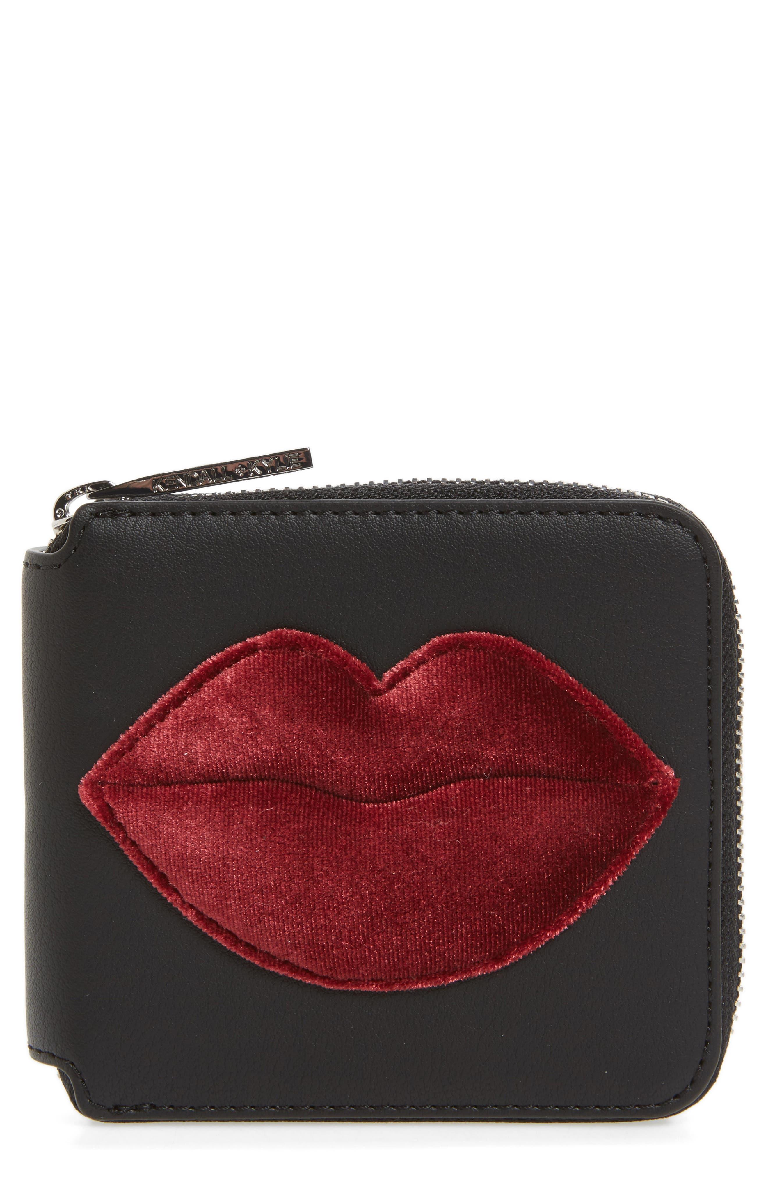 Brody Lips Wallet,                         Main,                         color, Black