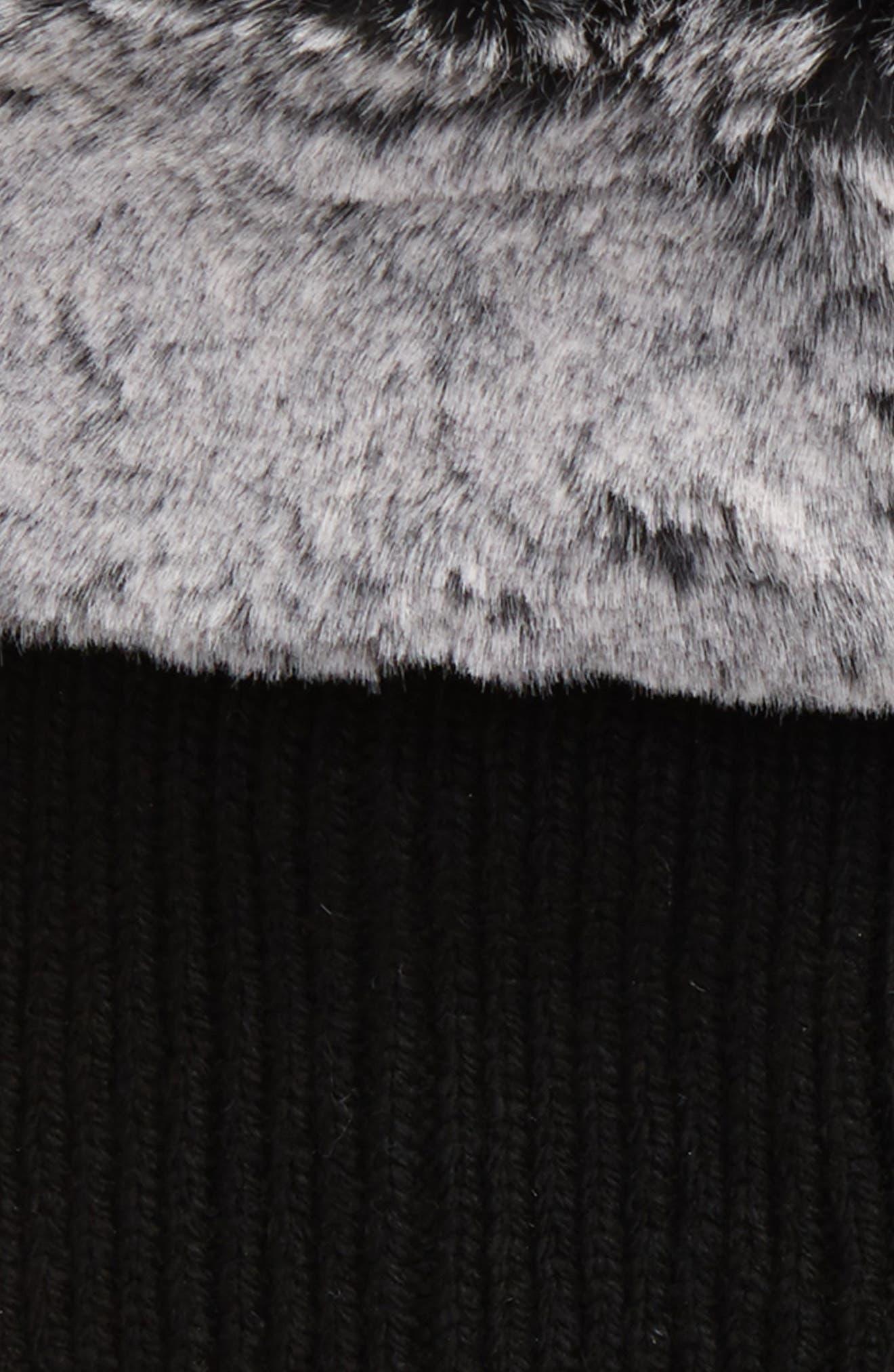UGGpure<sup>™</sup> Tall Rain Boot Sock,                             Alternate thumbnail 2, color,                             Charcoal Wool