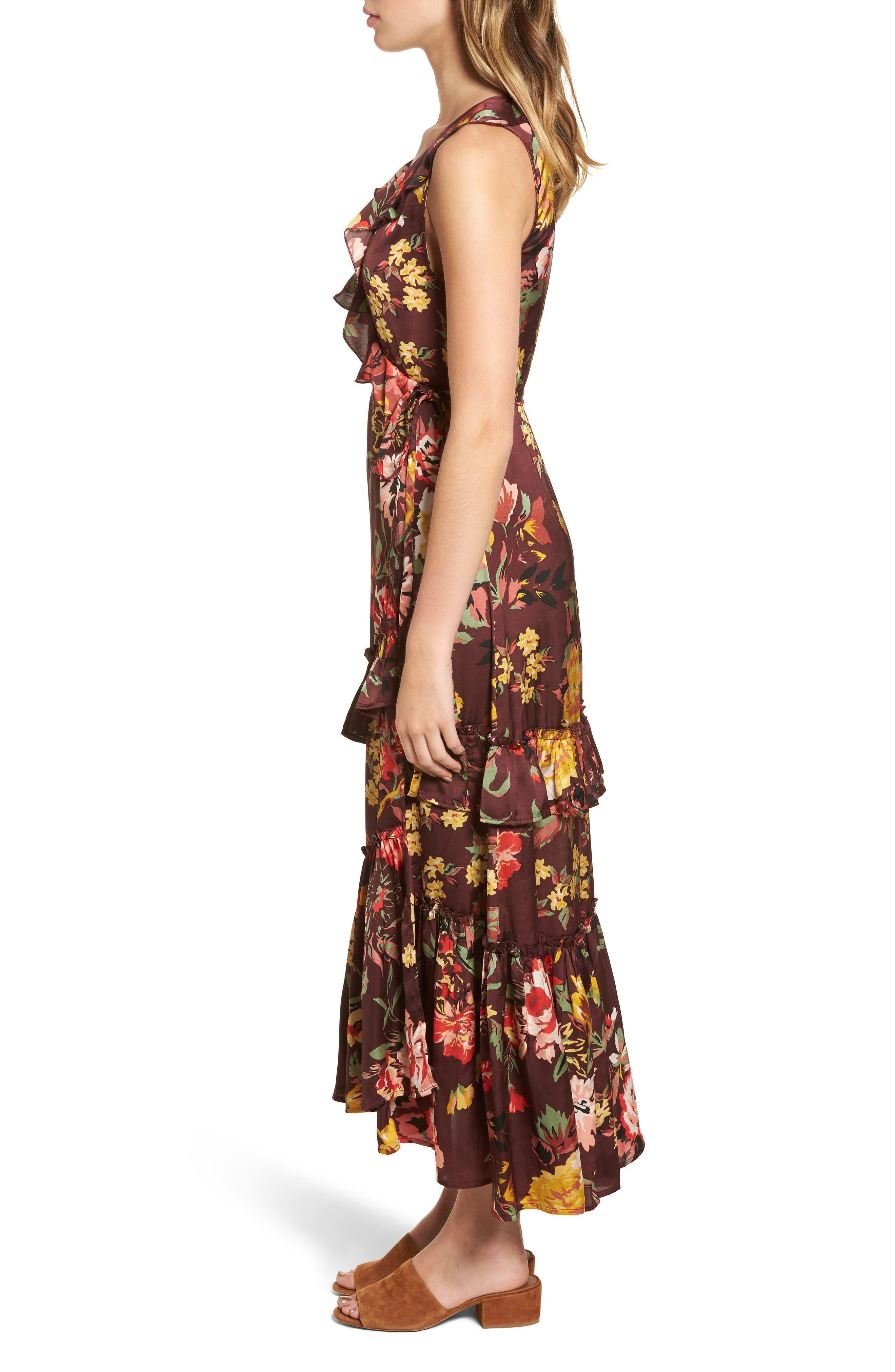 Alternate Image 3  - Love Like Summer x Billabong Ruffle Wrap Dress