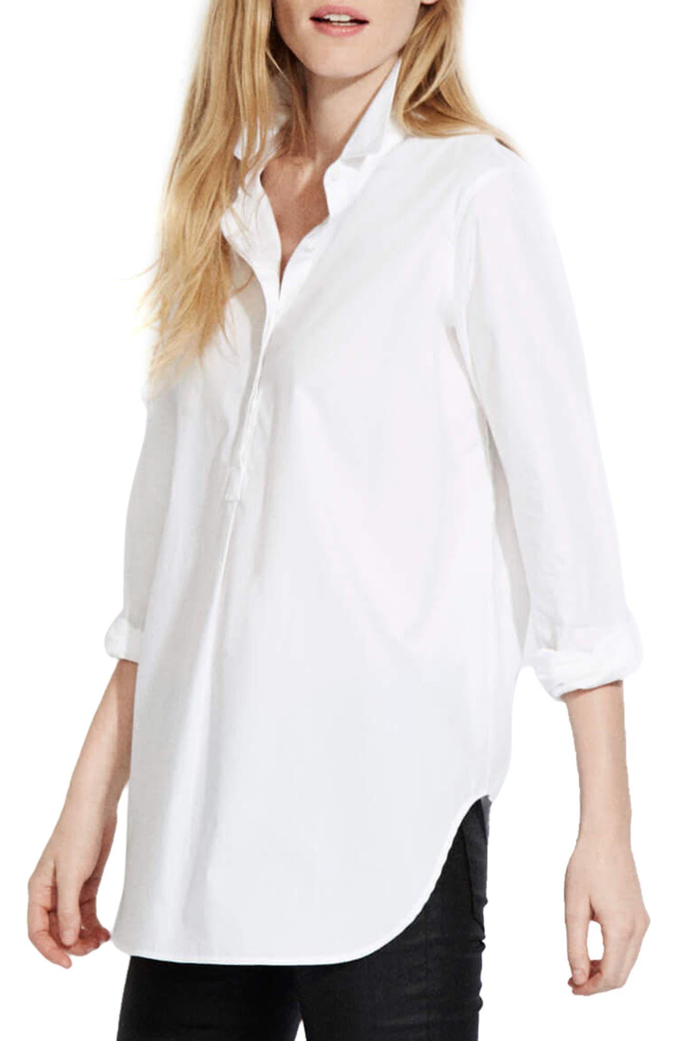 The Easy Shirt,                             Alternate thumbnail 3, color,                             White Poplin