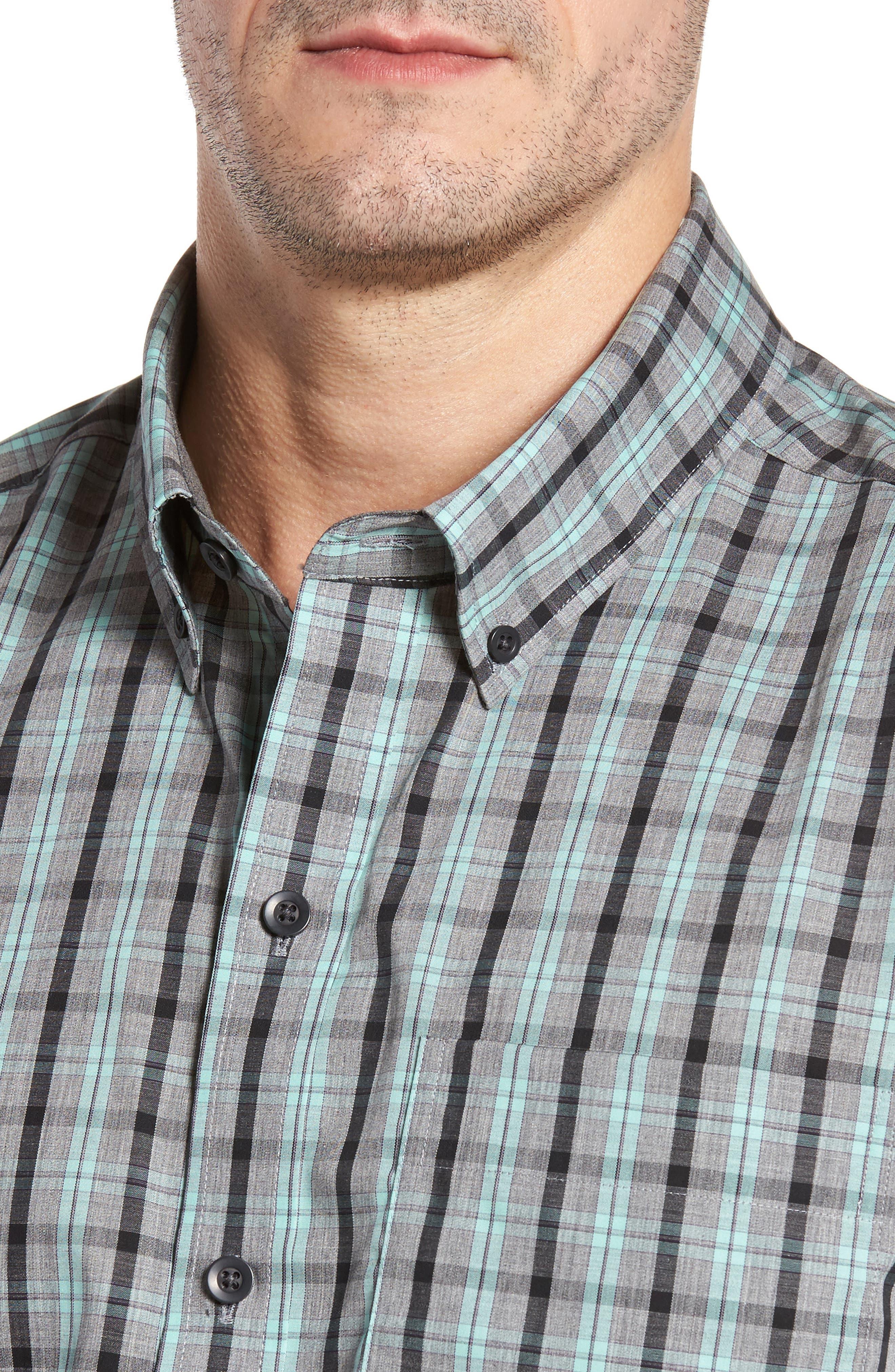 Alternate Image 4  - Cutter & Buck Davis Non-Iron Plaid Sport Shirt