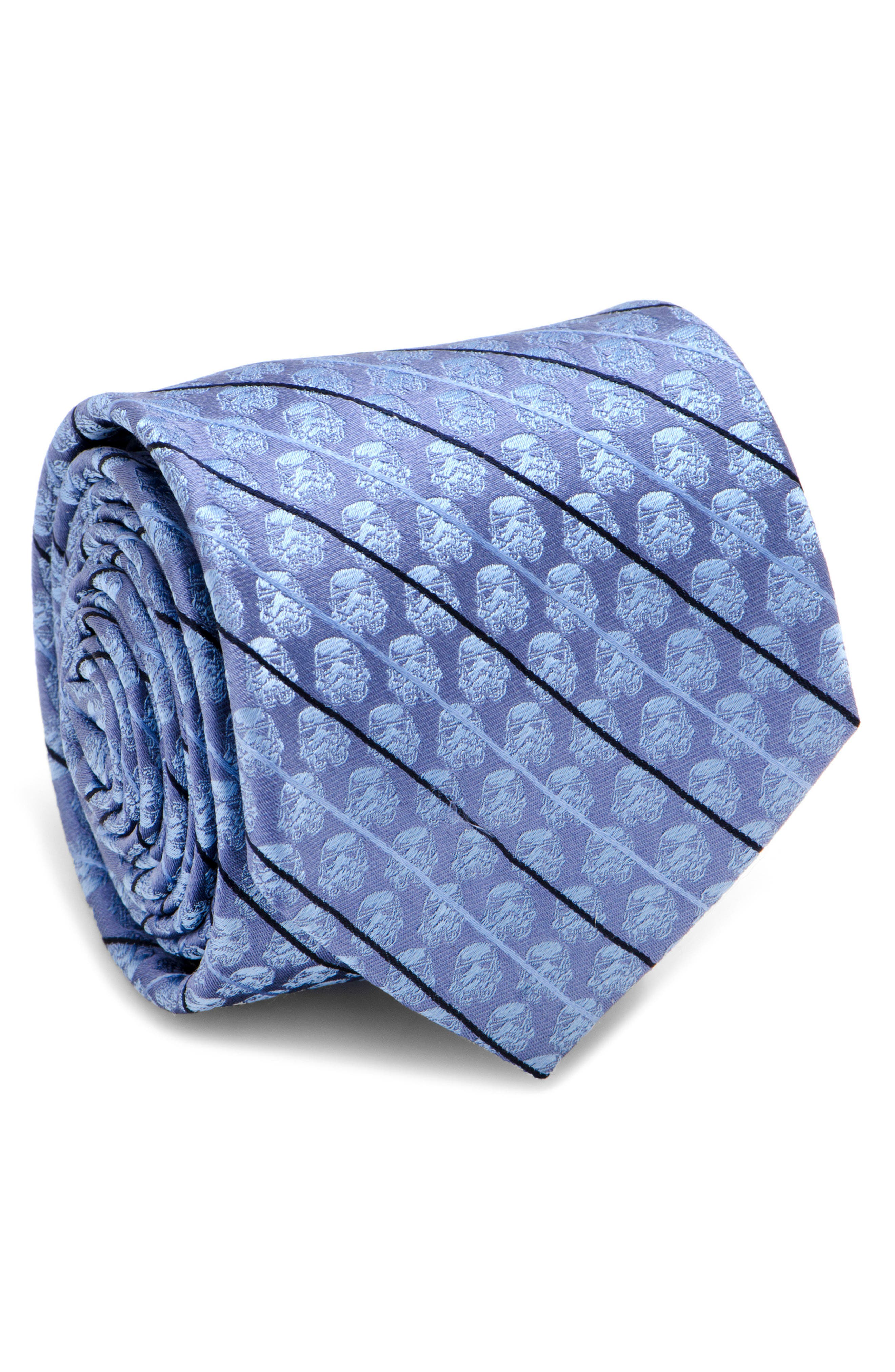 Storm Trooper Silk Tie,                         Main,                         color, Blue