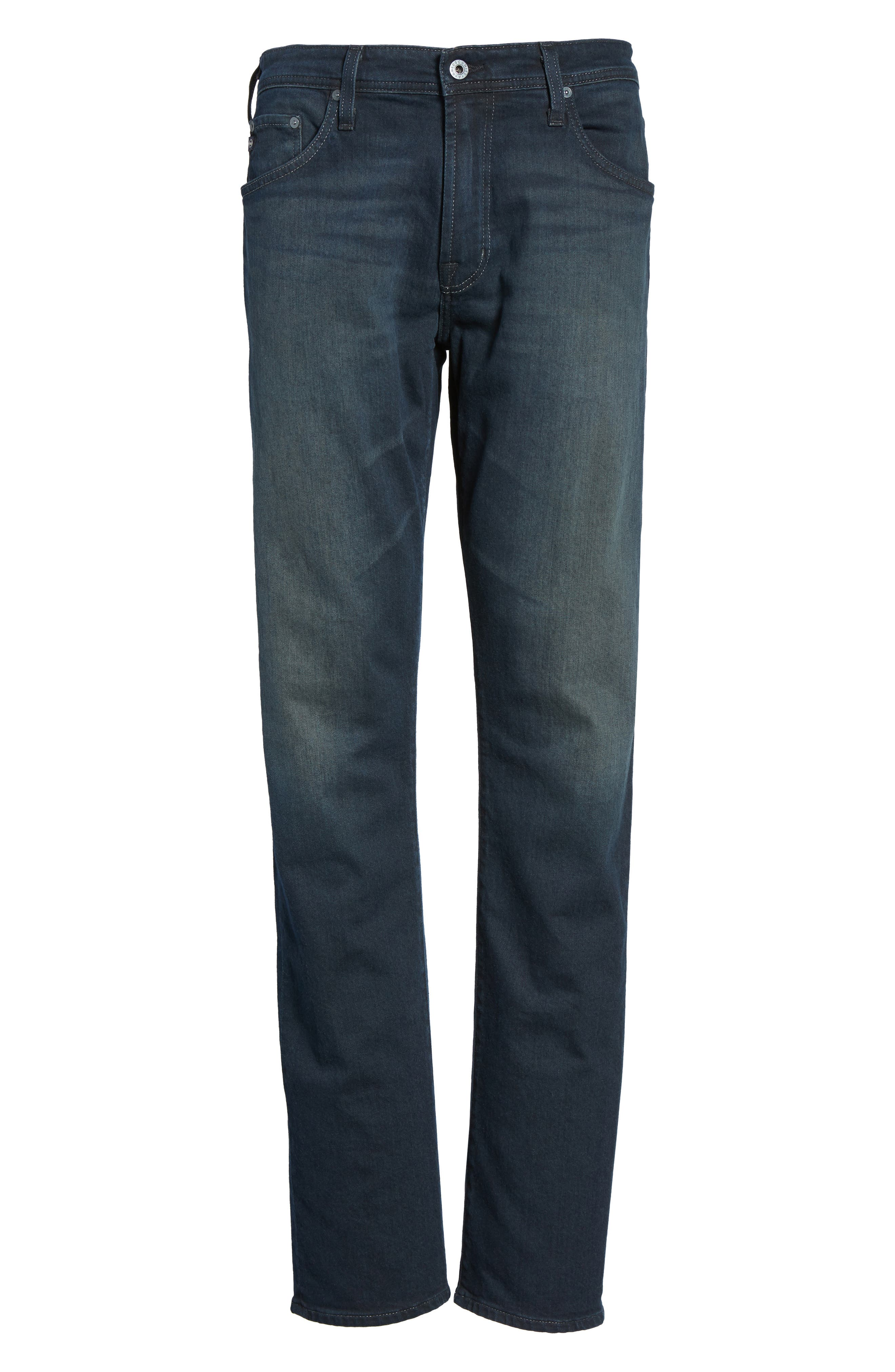 Alternate Image 6  - AG Ives Straight Fit Jeans (Blue Smolder)