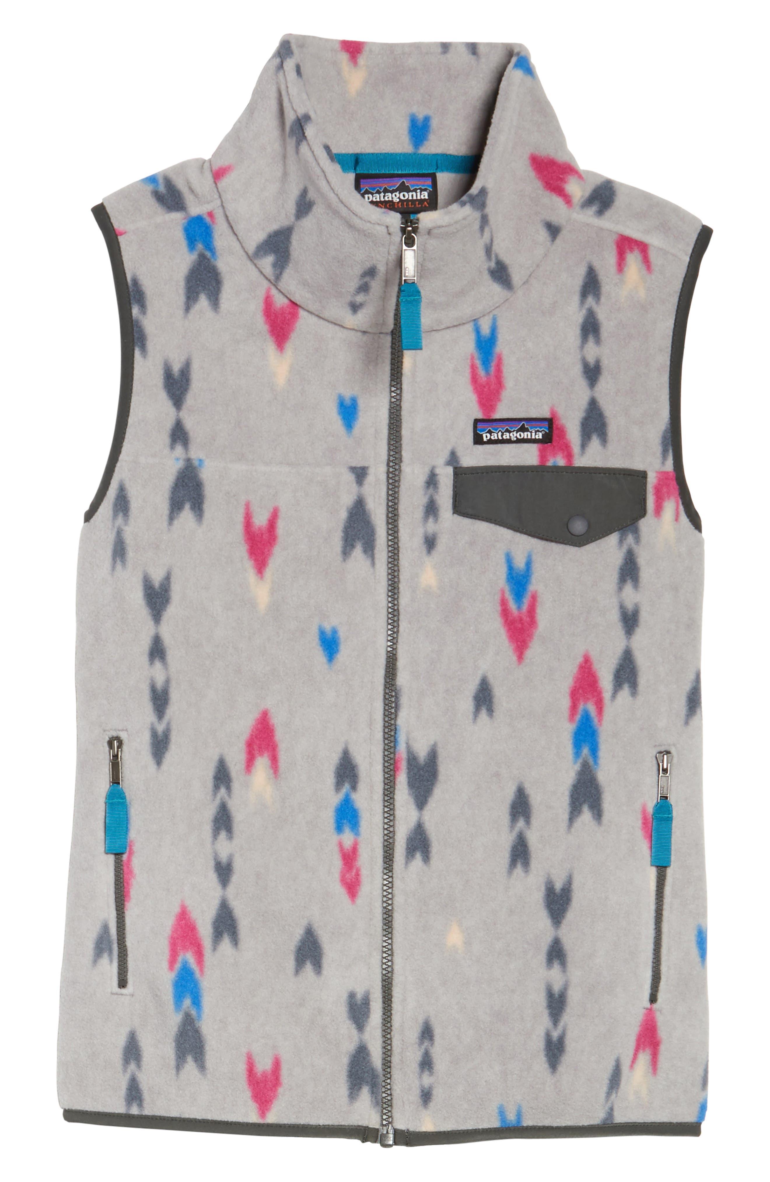 Snap-T<sup>®</sup> Fleece Vest,                         Main,                         color, Wish Tails Big/ Craft Pink