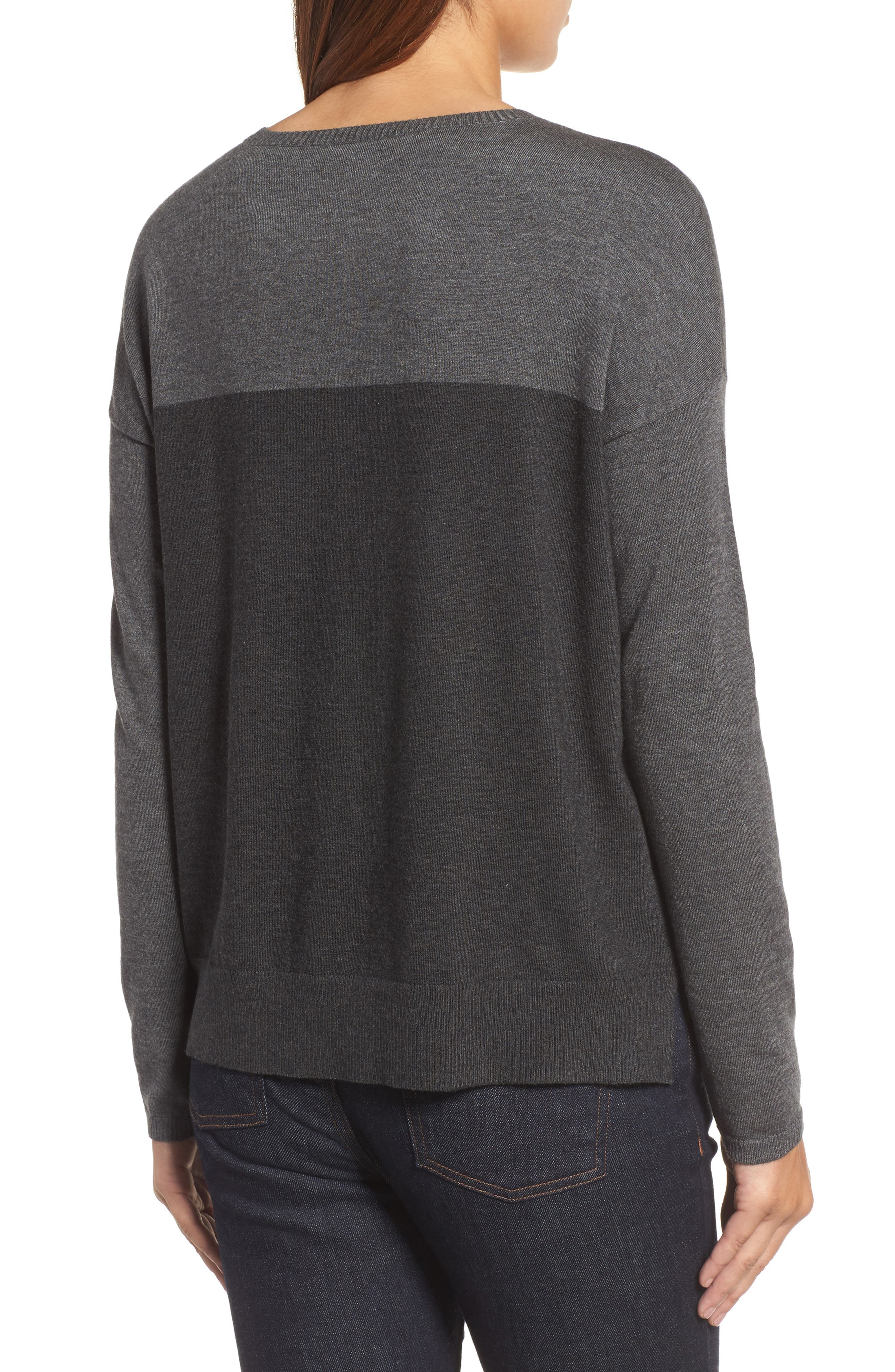 Alternate Image 2  - Eileen Fisher Round Neck Box Sweater