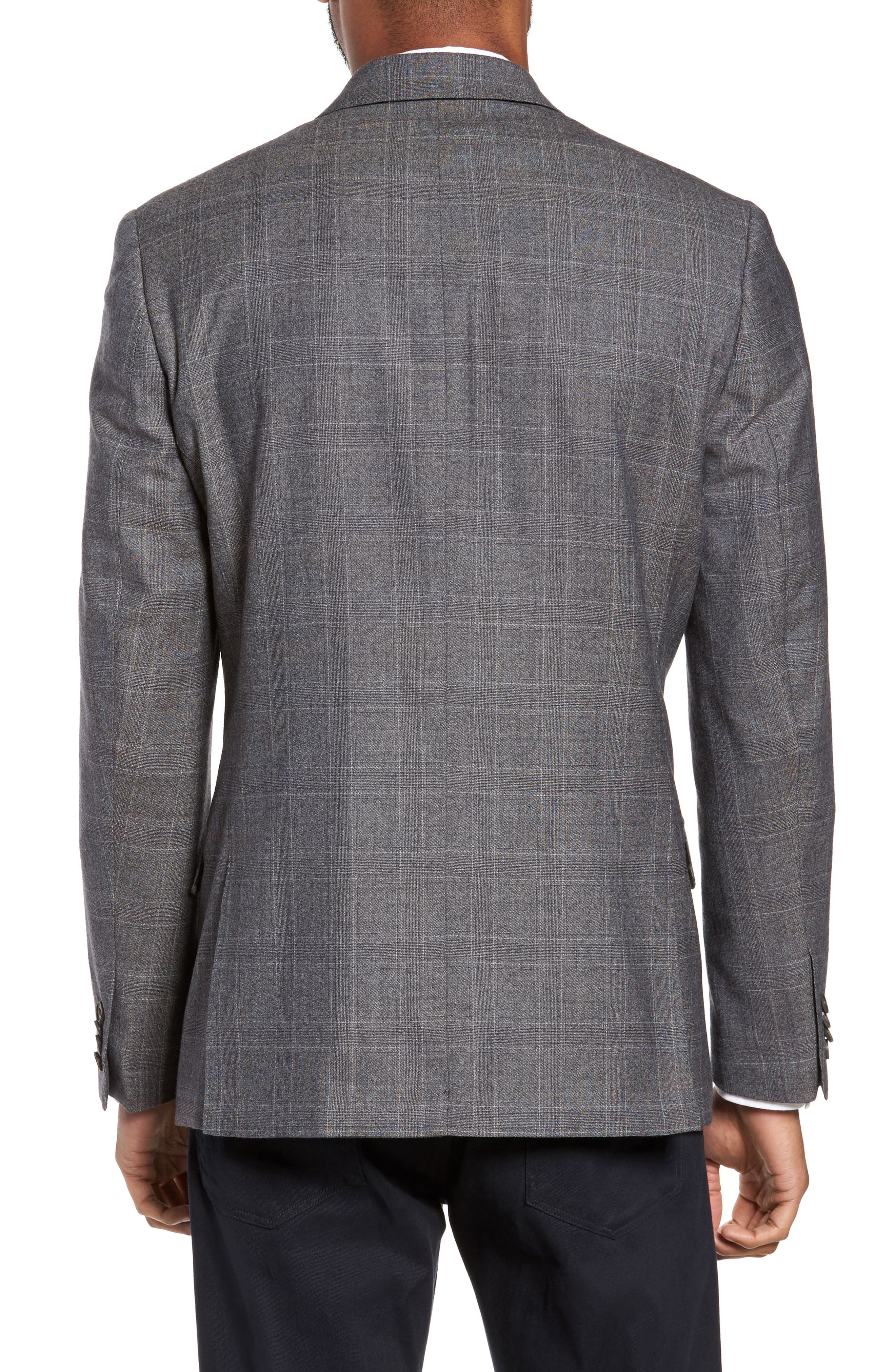 Gryning Trim Fit Plaid Wool Blend Sport Coat,                             Alternate thumbnail 2, color,                             Quiet Gray