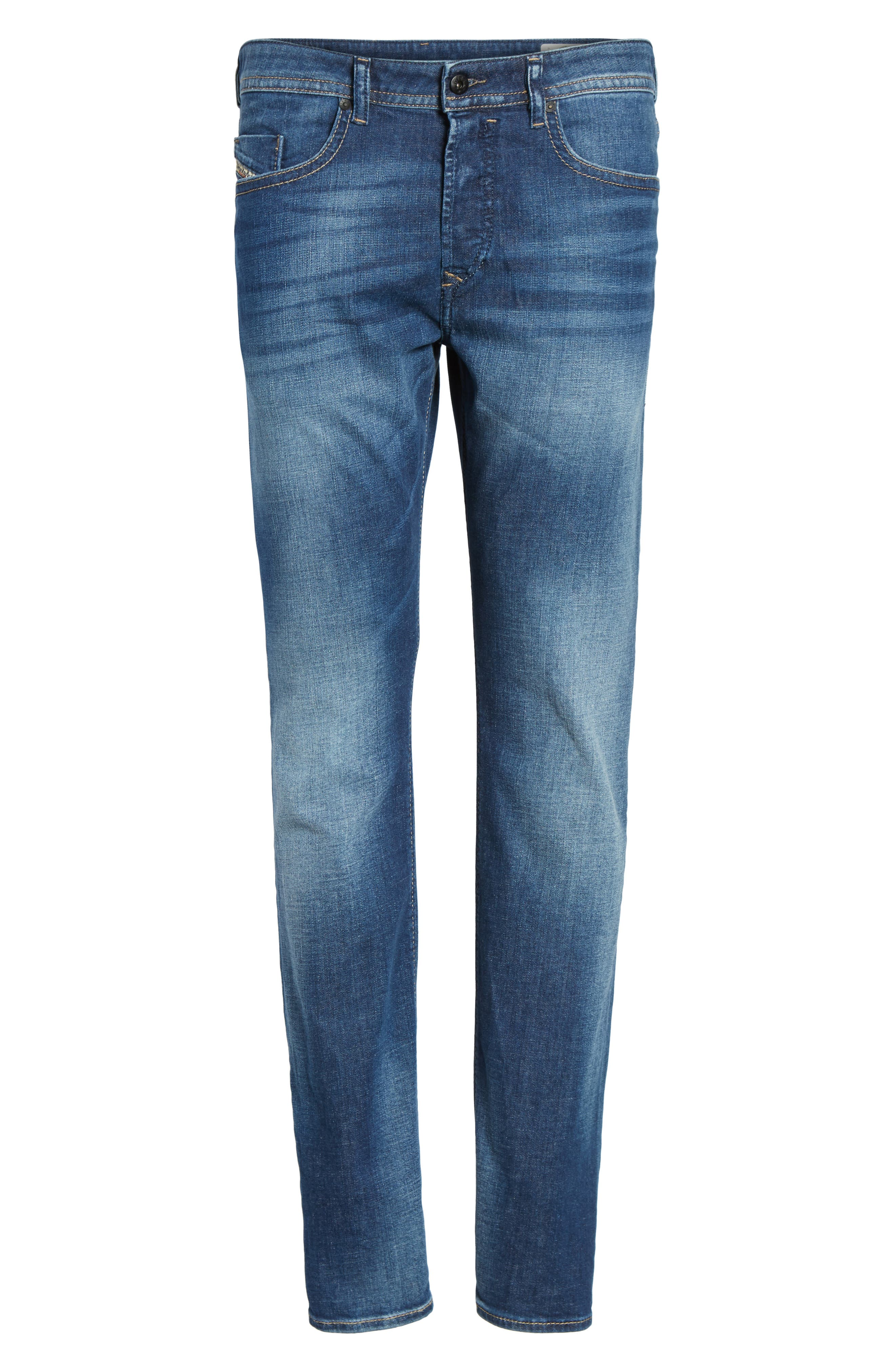 Buster Slim Straight Leg Jeans,                             Alternate thumbnail 6, color,                             084Gr