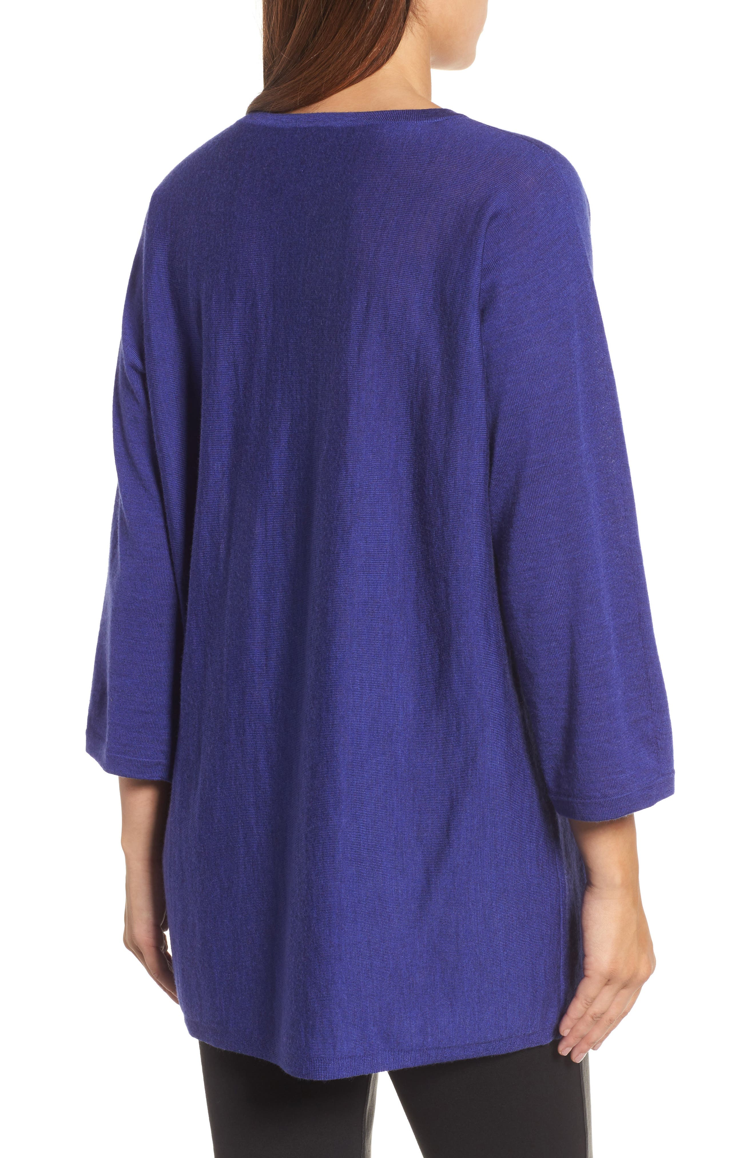 Alternate Image 2  - Eileen Fisher Lightweight Merino Wool Sweater