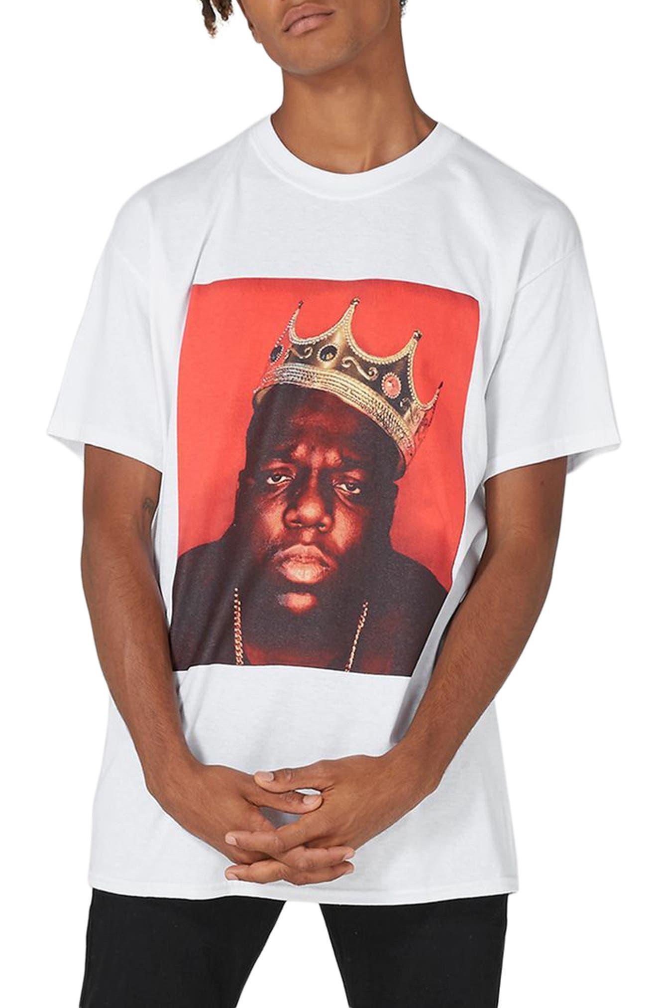 Biggie Crown T-Shirt,                         Main,                         color, White Multi