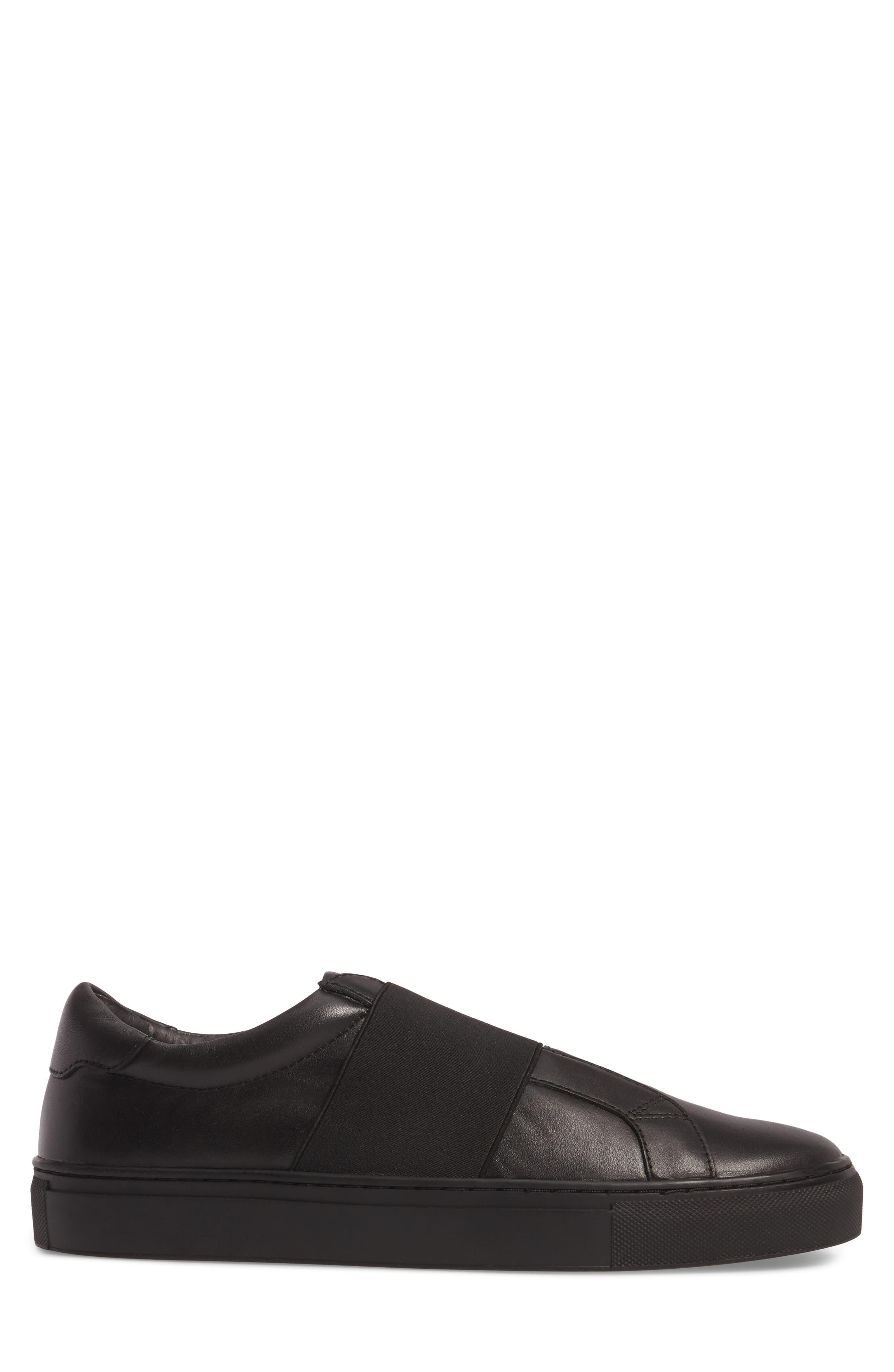 Darel Slip-On,                             Alternate thumbnail 3, color,                             Black Leather
