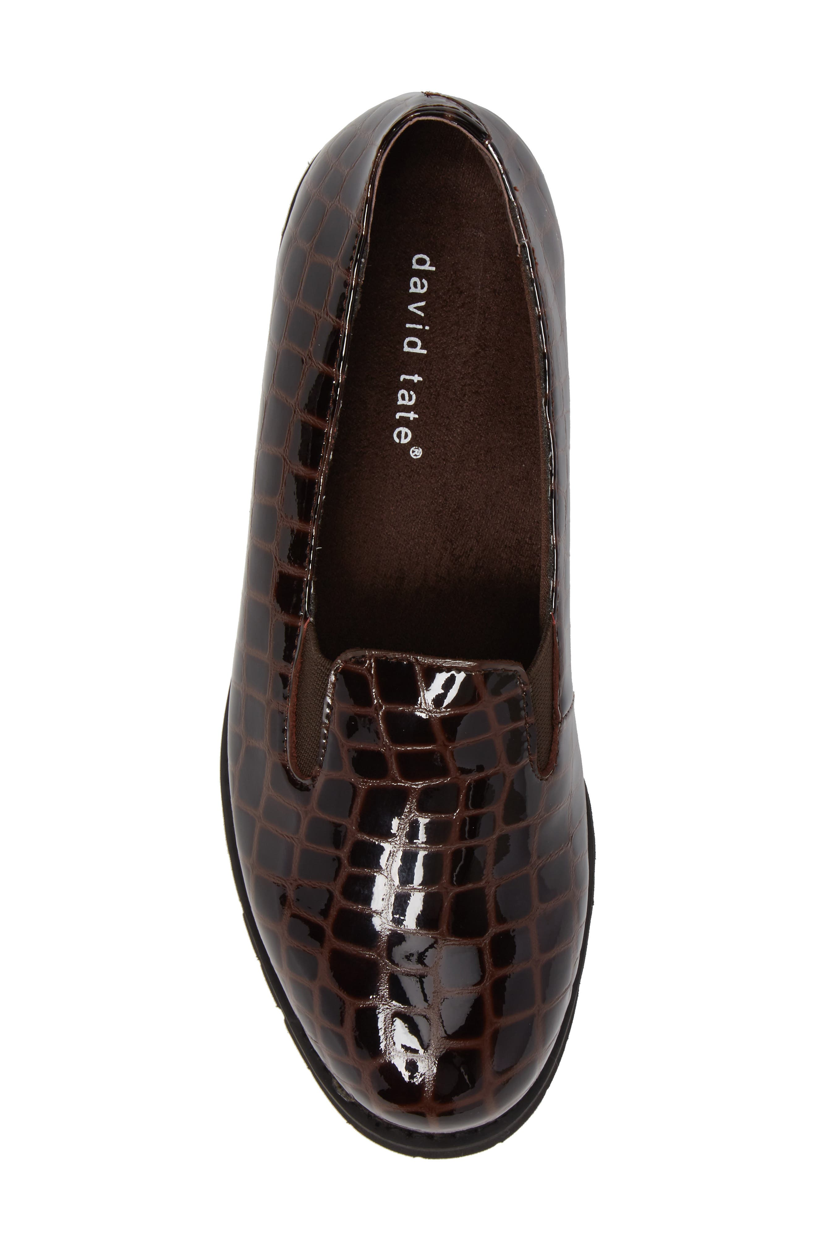 Pearl Loafer,                             Alternate thumbnail 5, color,                             Brown Patent Leather