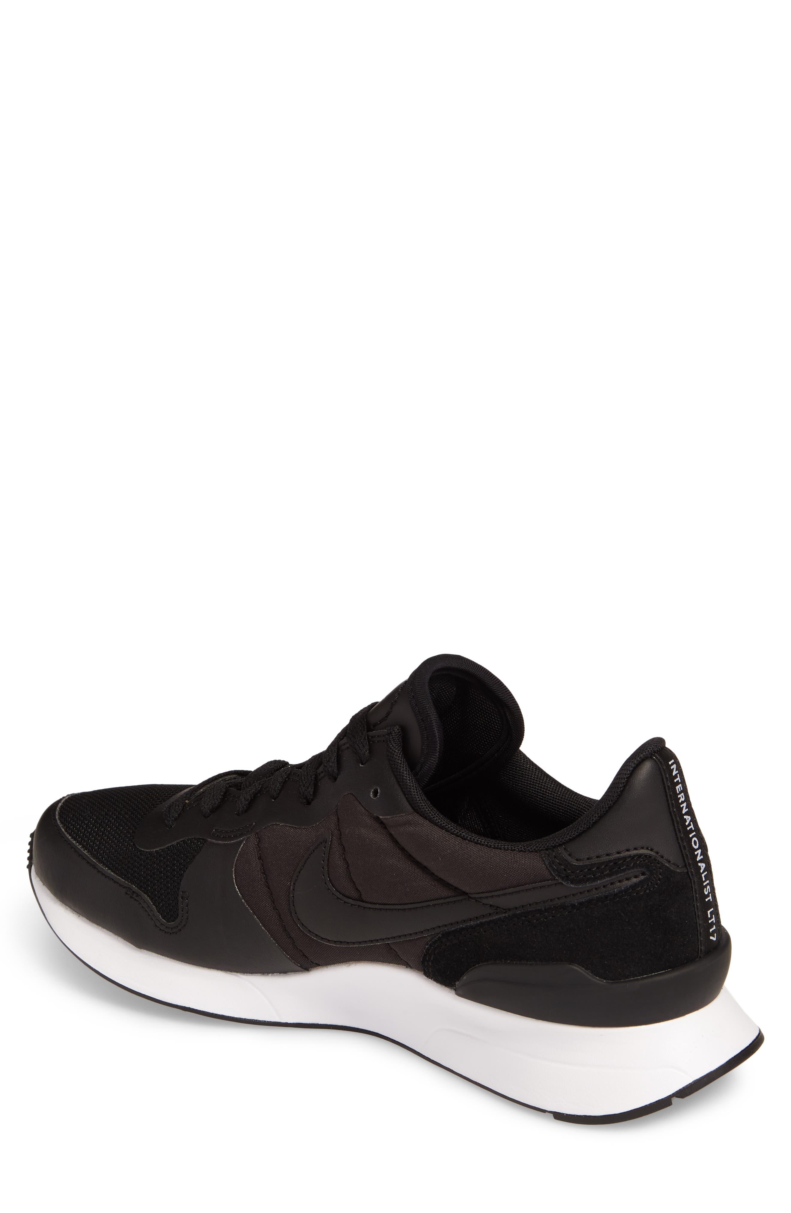 Internationalist LT17 Sneaker,                             Alternate thumbnail 2, color,                             Black/ Black/ White