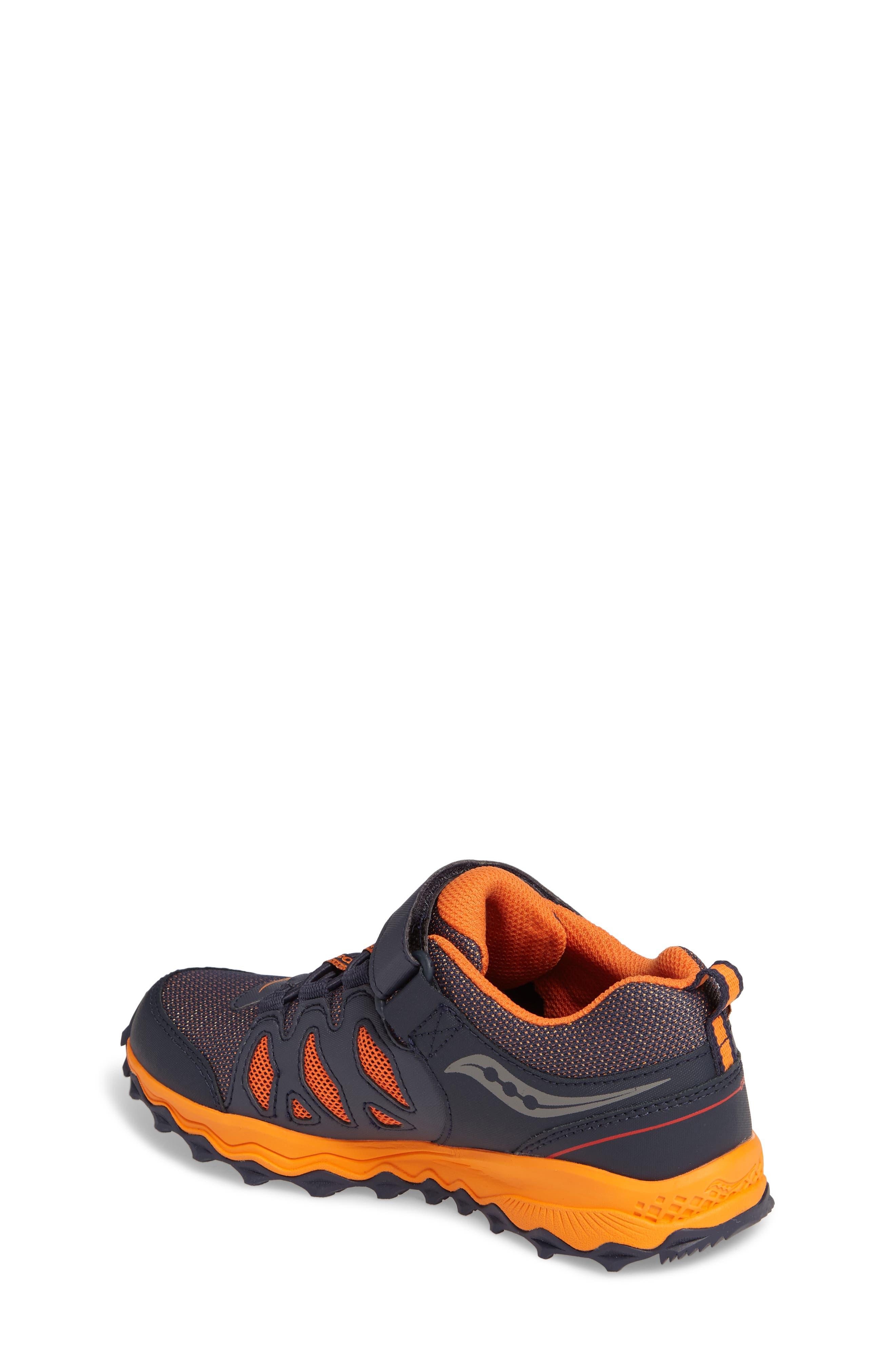 Peregrine Shield Water-Resistant Sneaker,                             Alternate thumbnail 2, color,                             Navy/ Orange