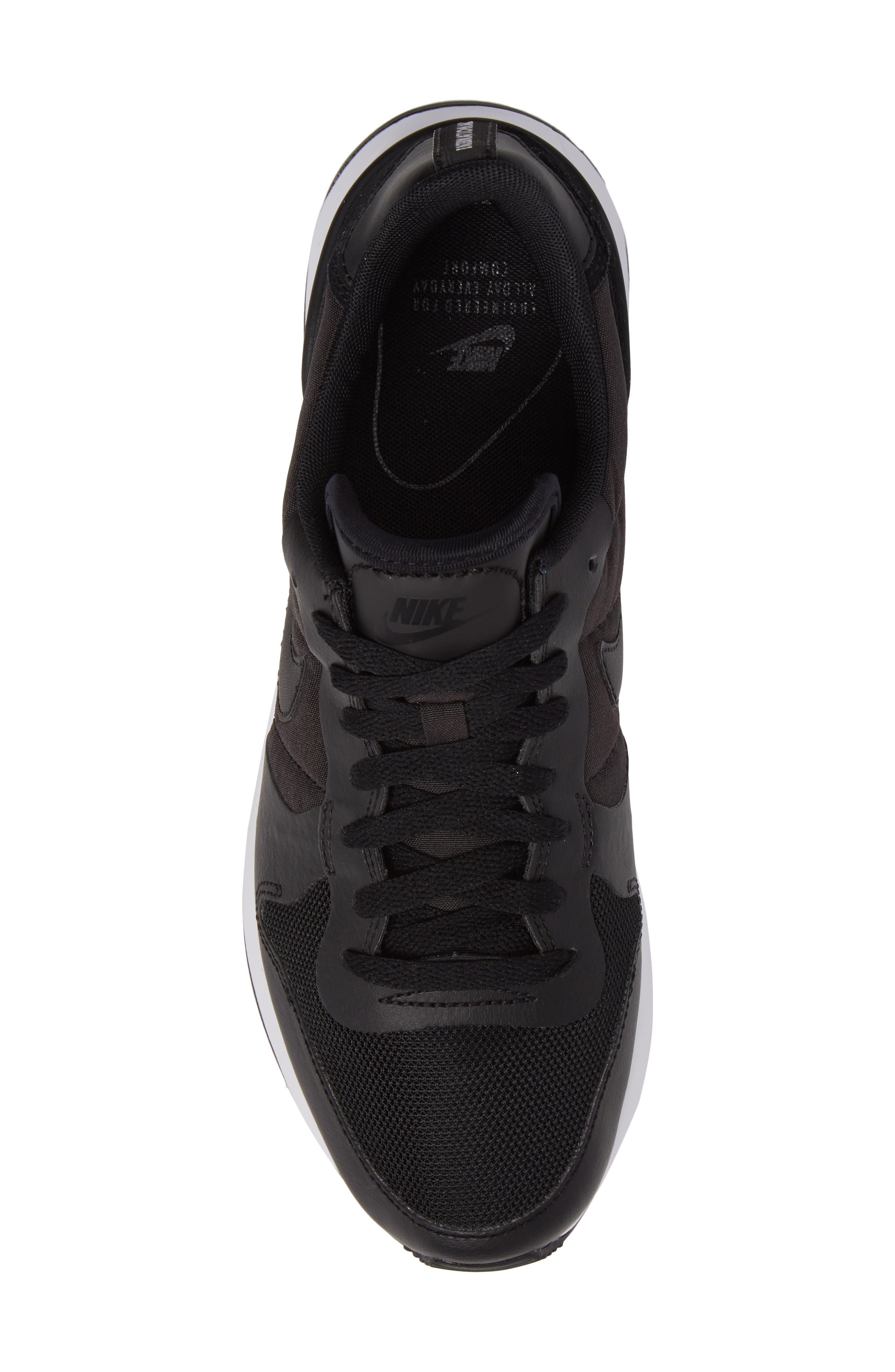 Internationalist LT17 Sneaker,                             Alternate thumbnail 5, color,                             Black/ Black/ White