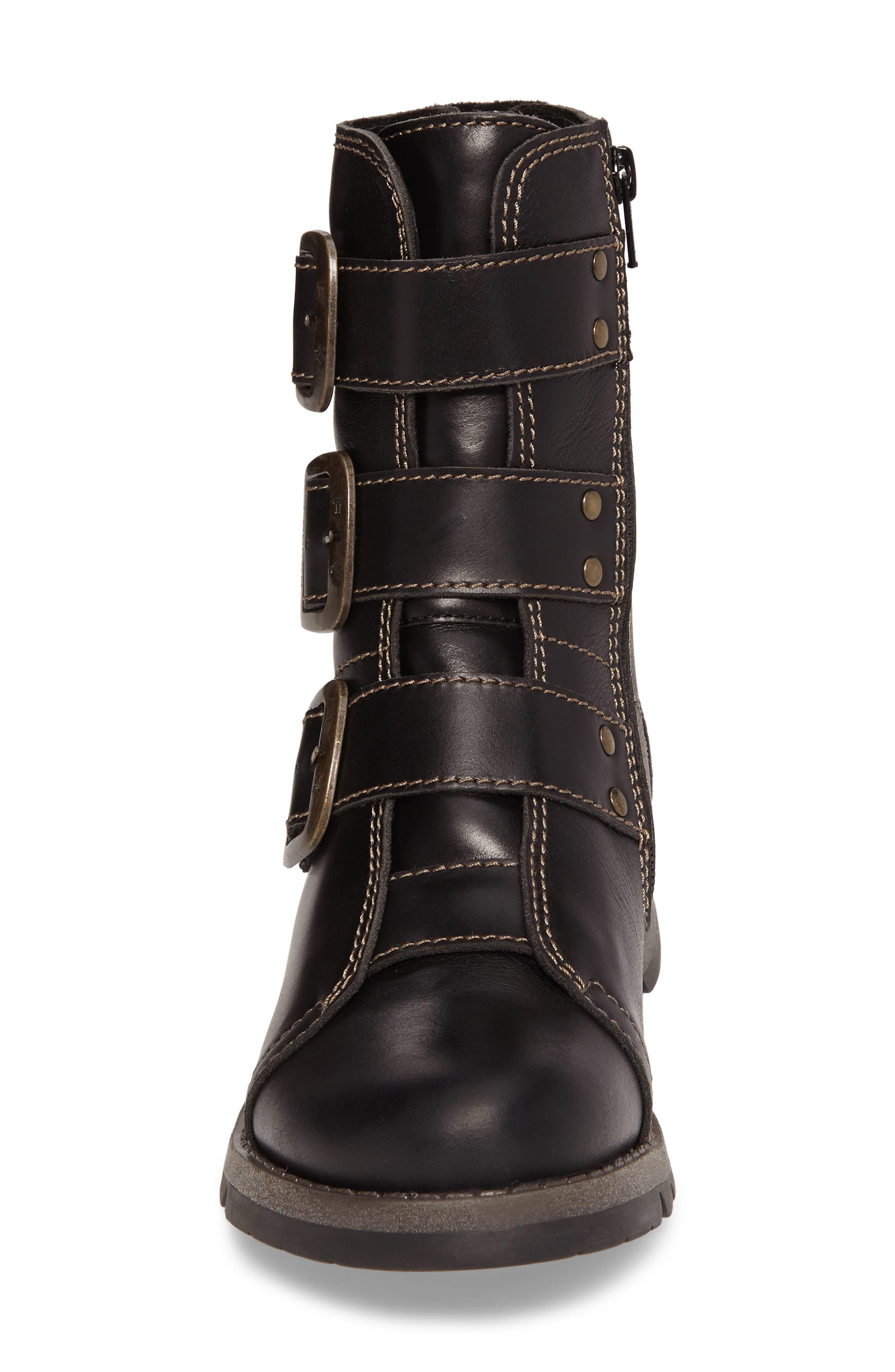 Scop Boot,                             Alternate thumbnail 4, color,                             Black Leather