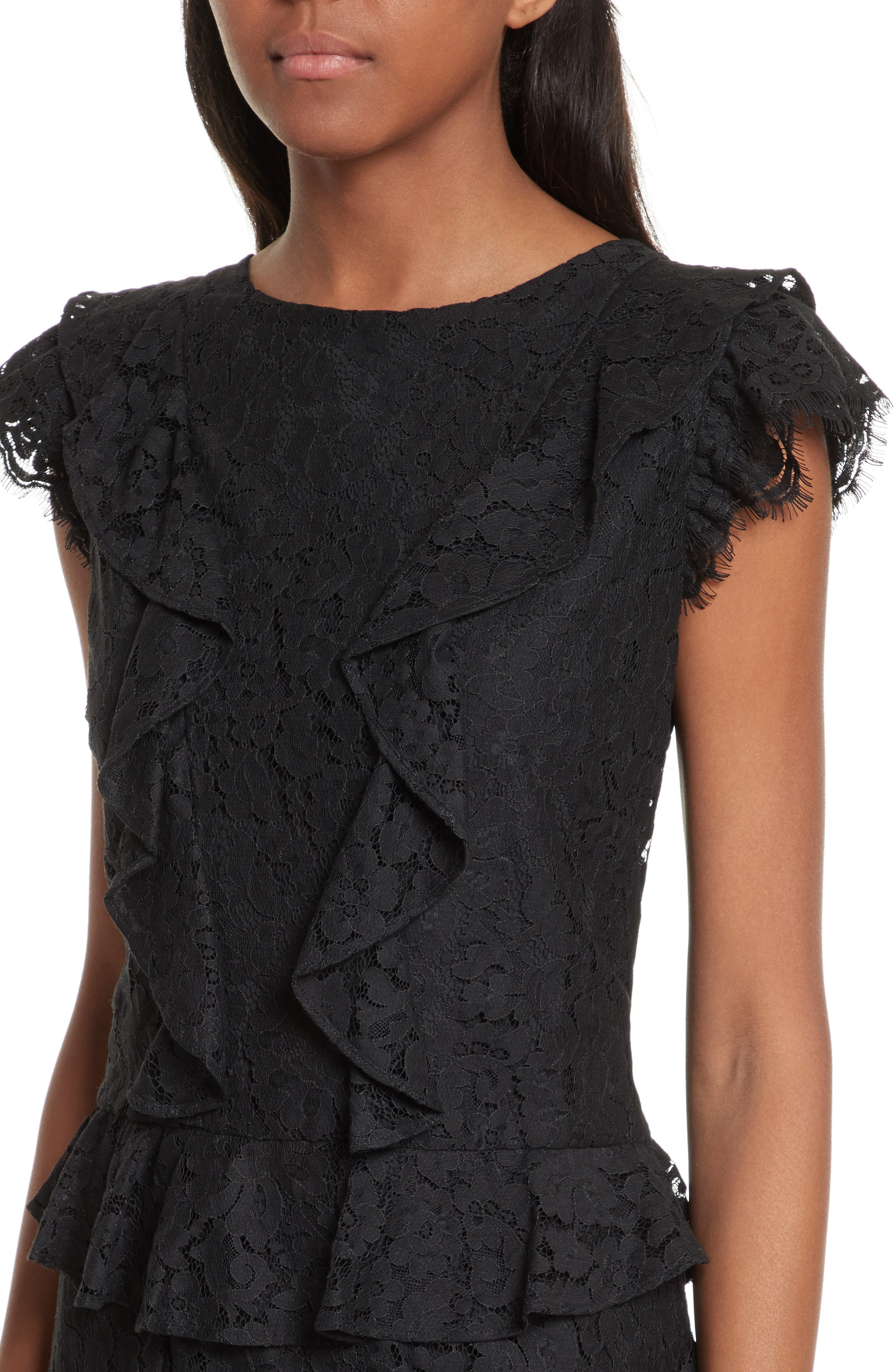 Alternate Image 4  - Joie Acostas Ruffle & Lace Dress