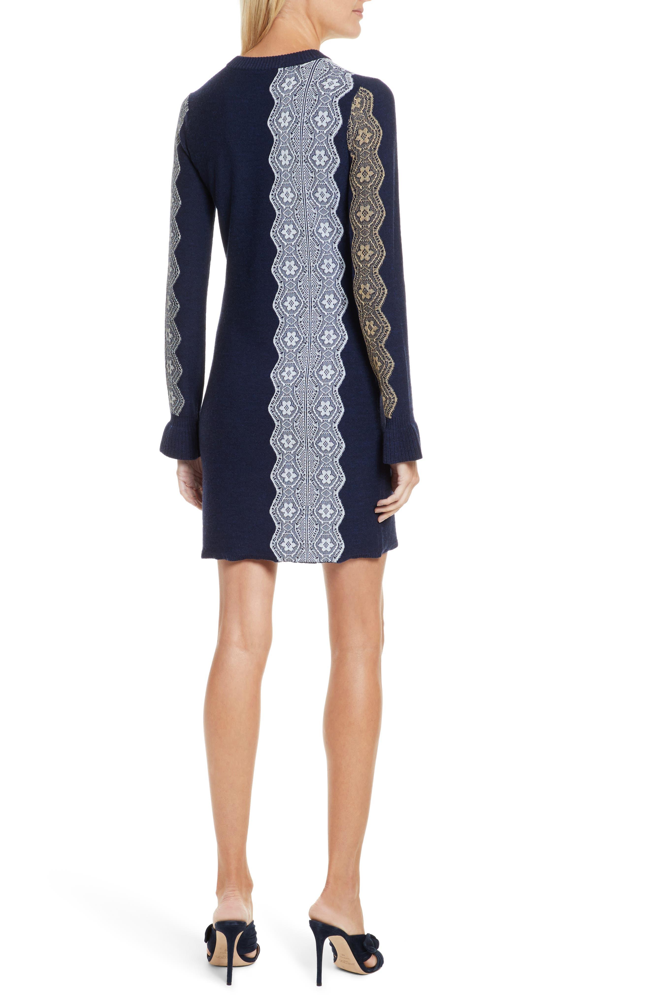 Alternate Image 2  - 3.1 Phillip Lim Intarsia Lace Wool Blend Dress