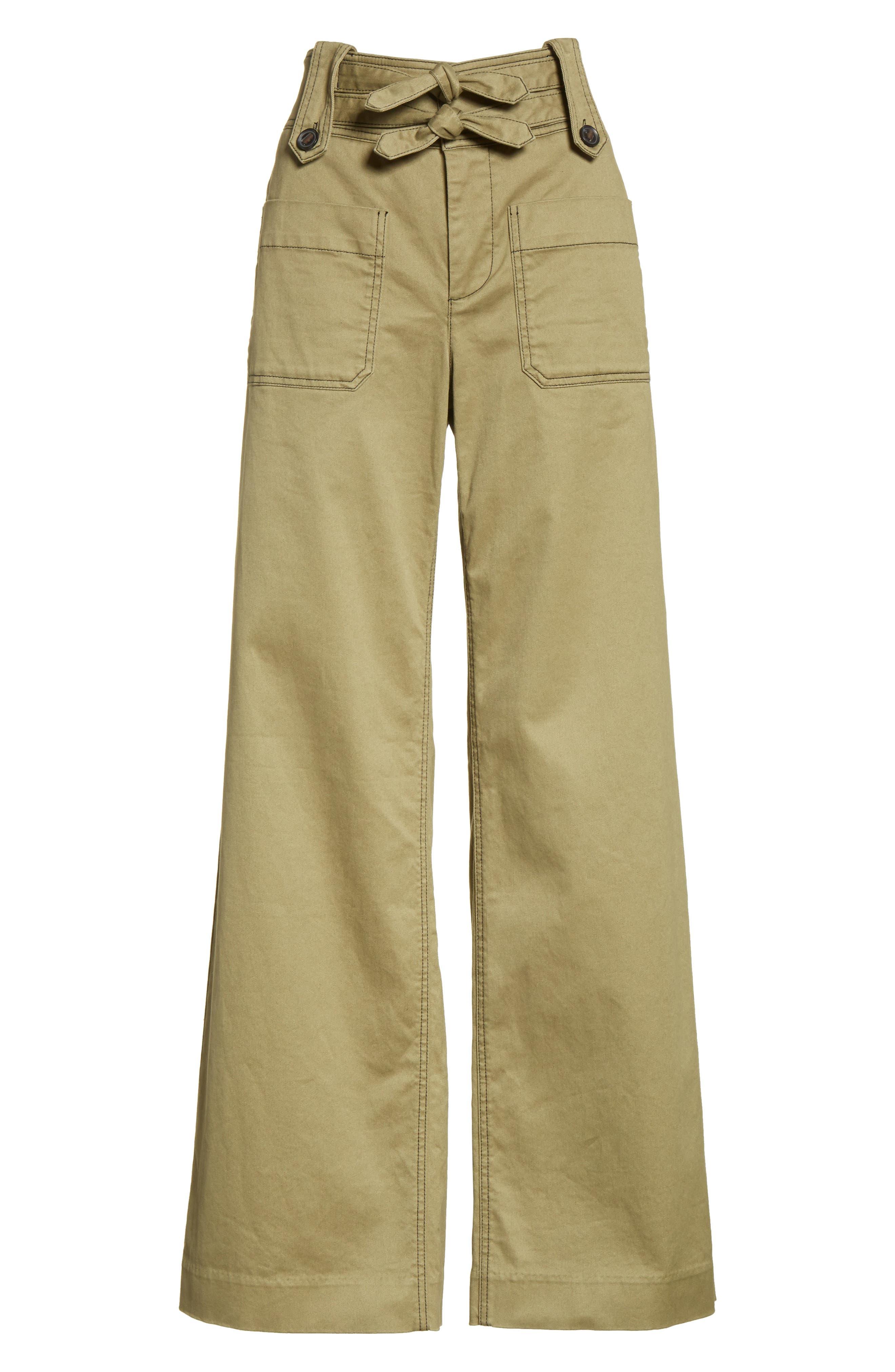 Alternate Image 7  - Rebecca Taylor High Waist Twill Pants