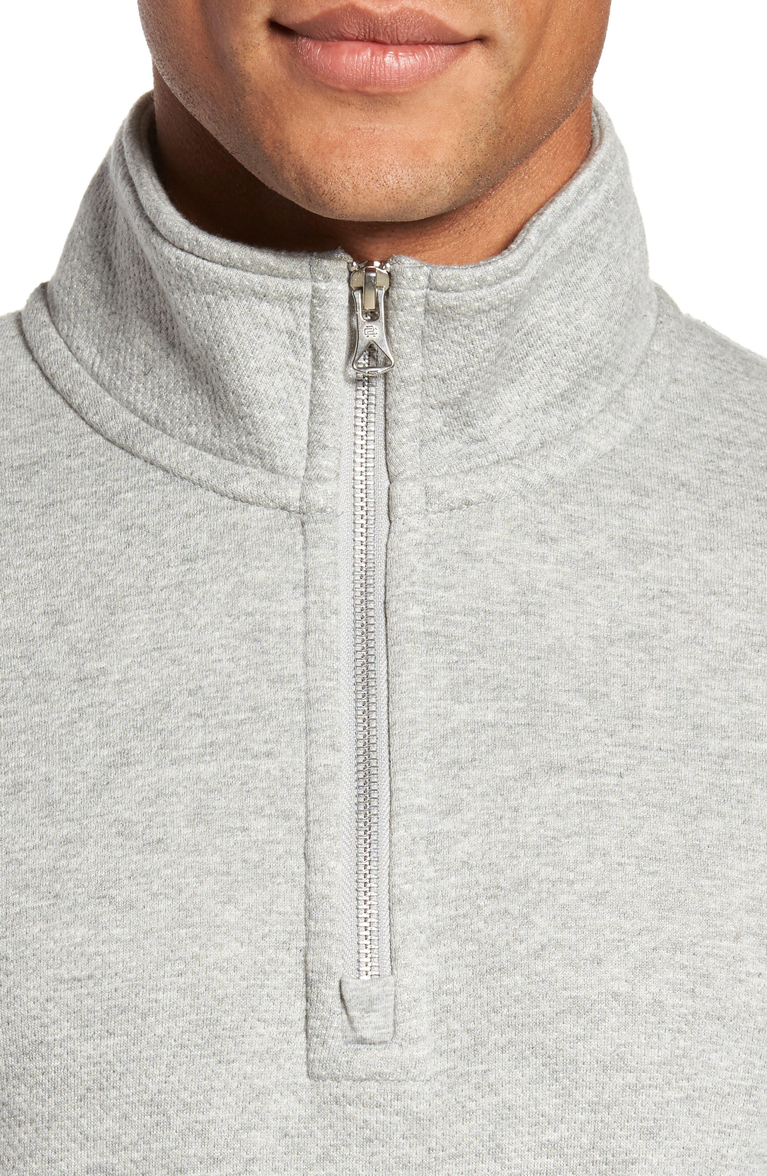 Alternate Image 4  - Reigning Champ Mesh Half Zip Fleece Top